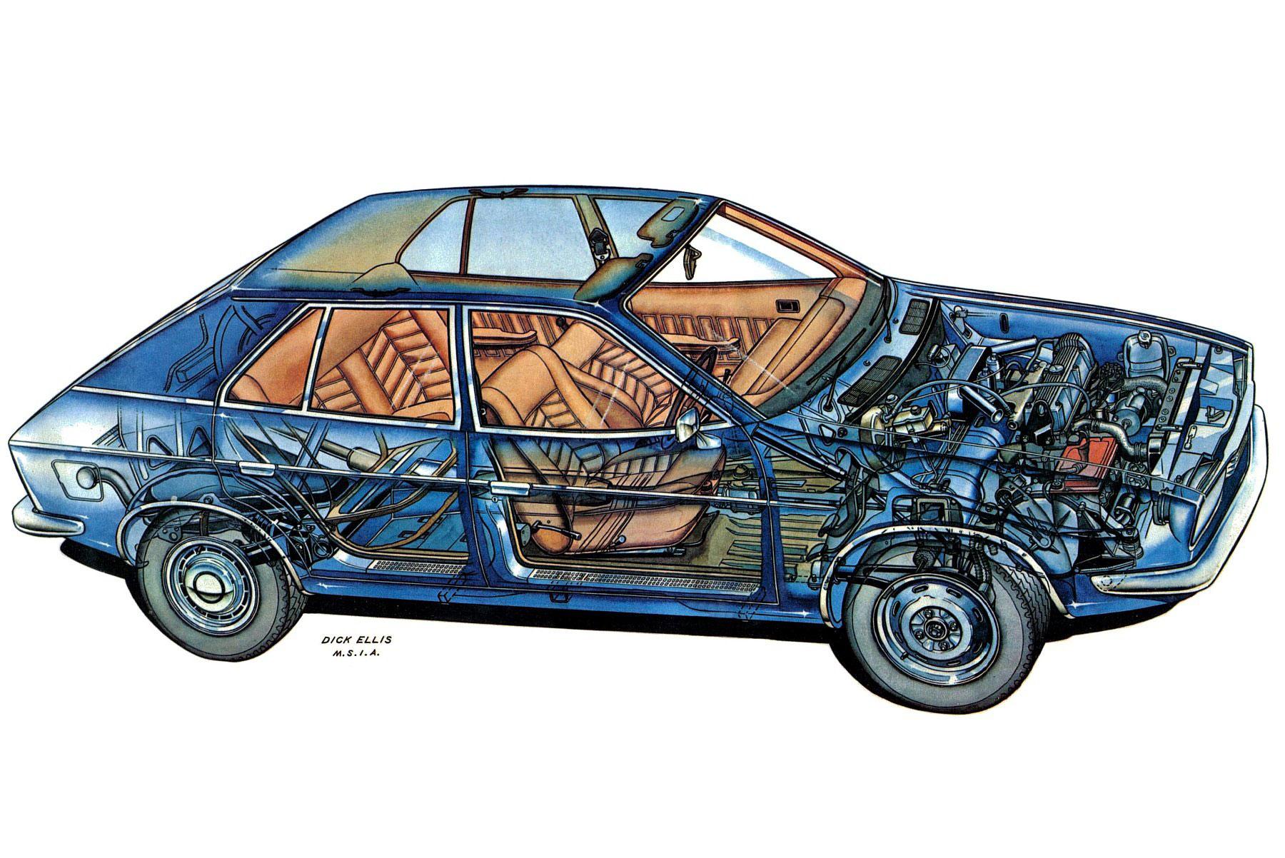 Princess 2200-HL cutaway drawing