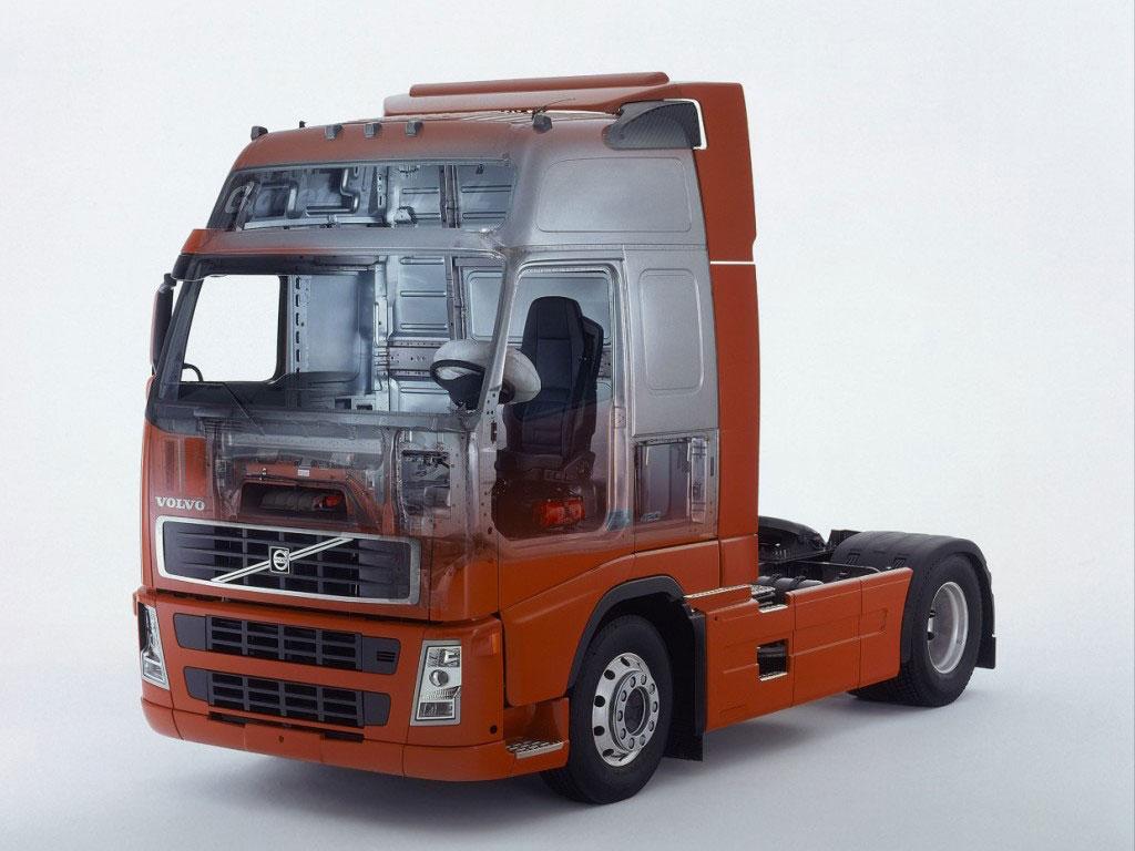 Volvo FH truck cutaway drawing