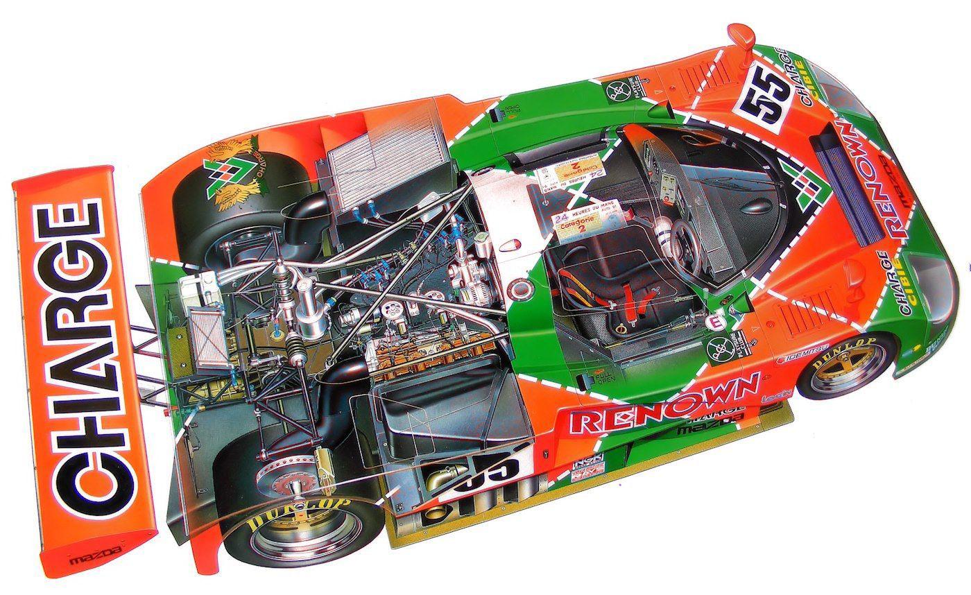 Mazda 787B cutaway drawing