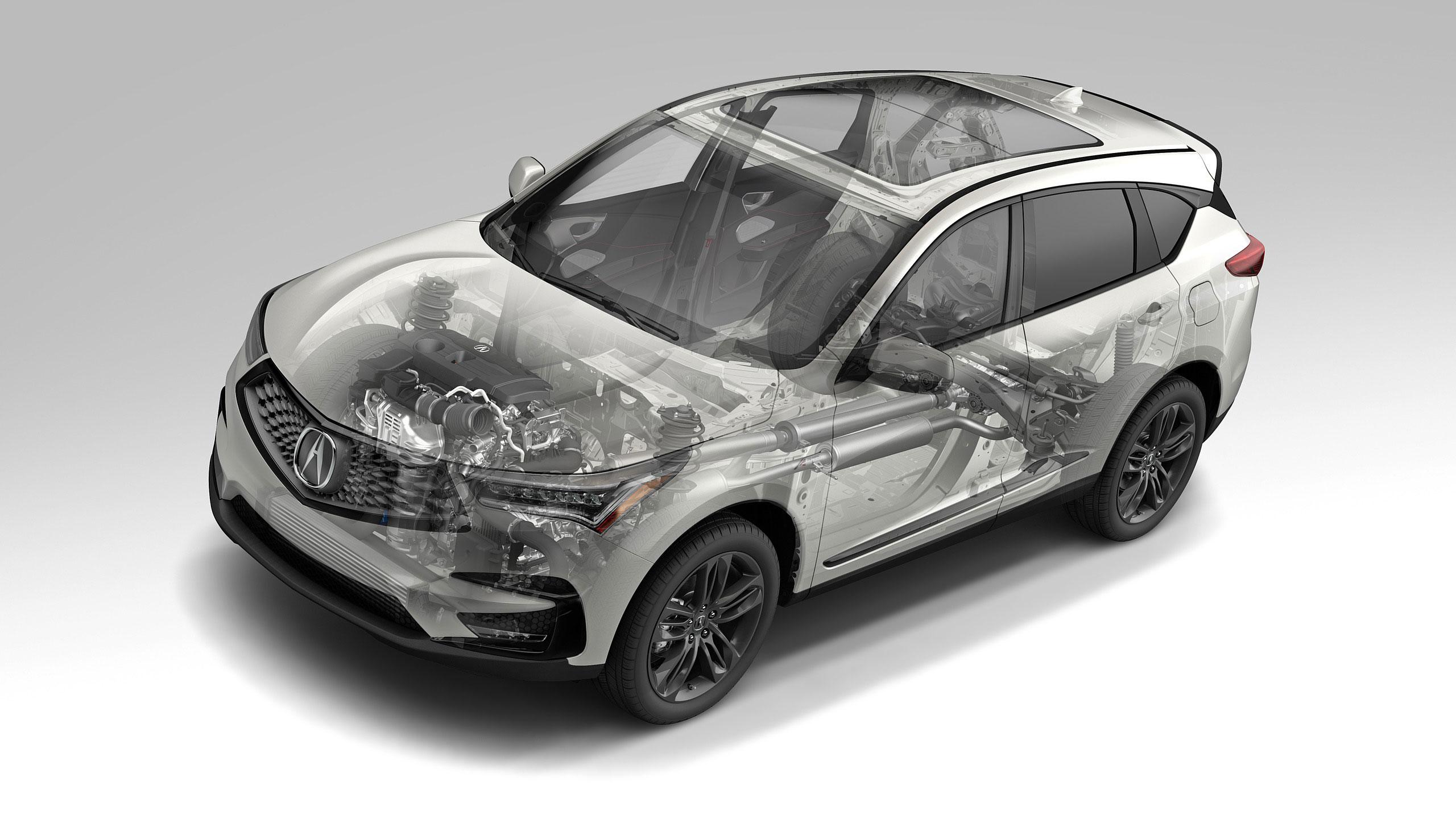Acura RDX cutaway drawing