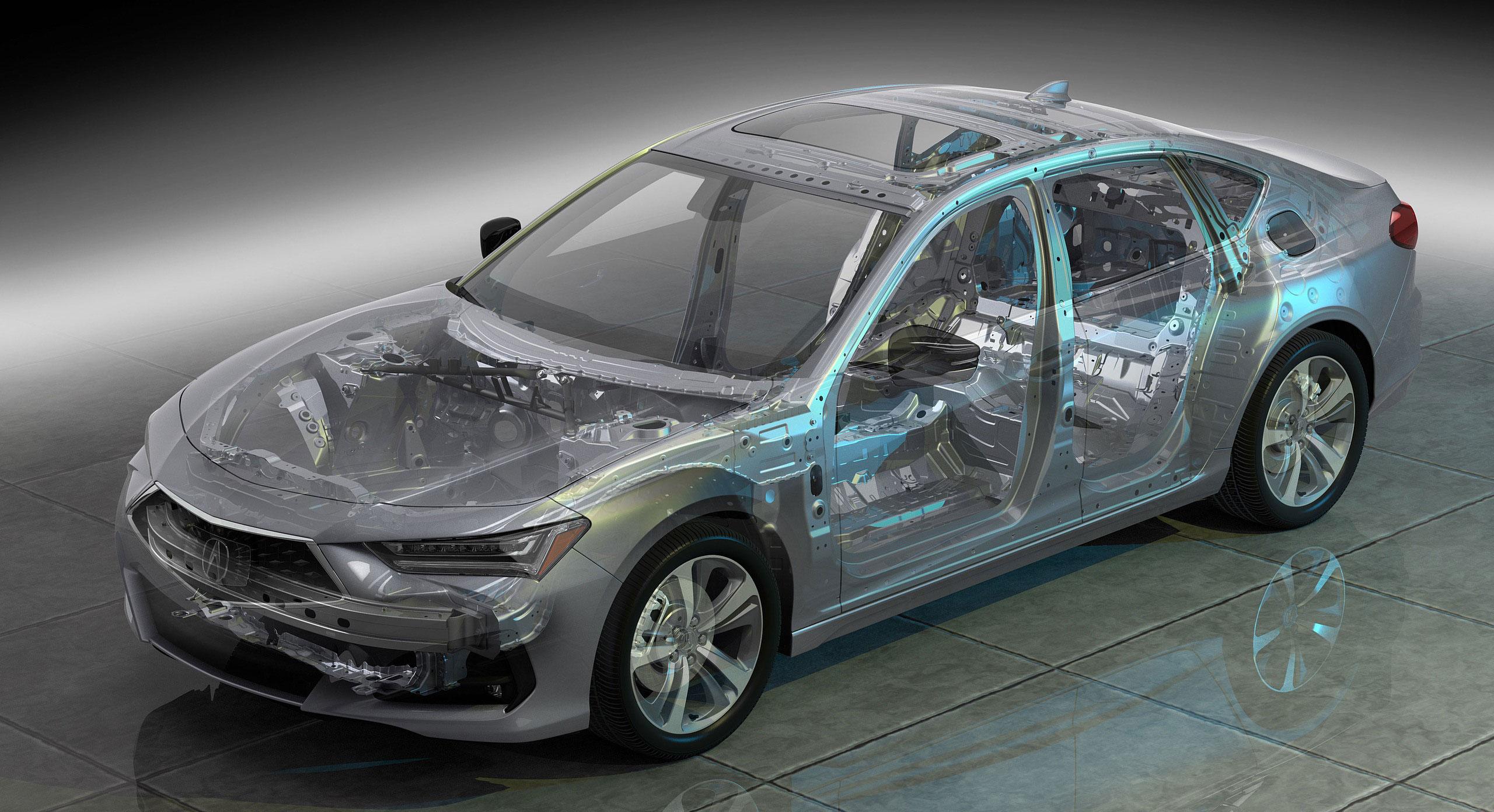 Acura TLX cutaway drawing