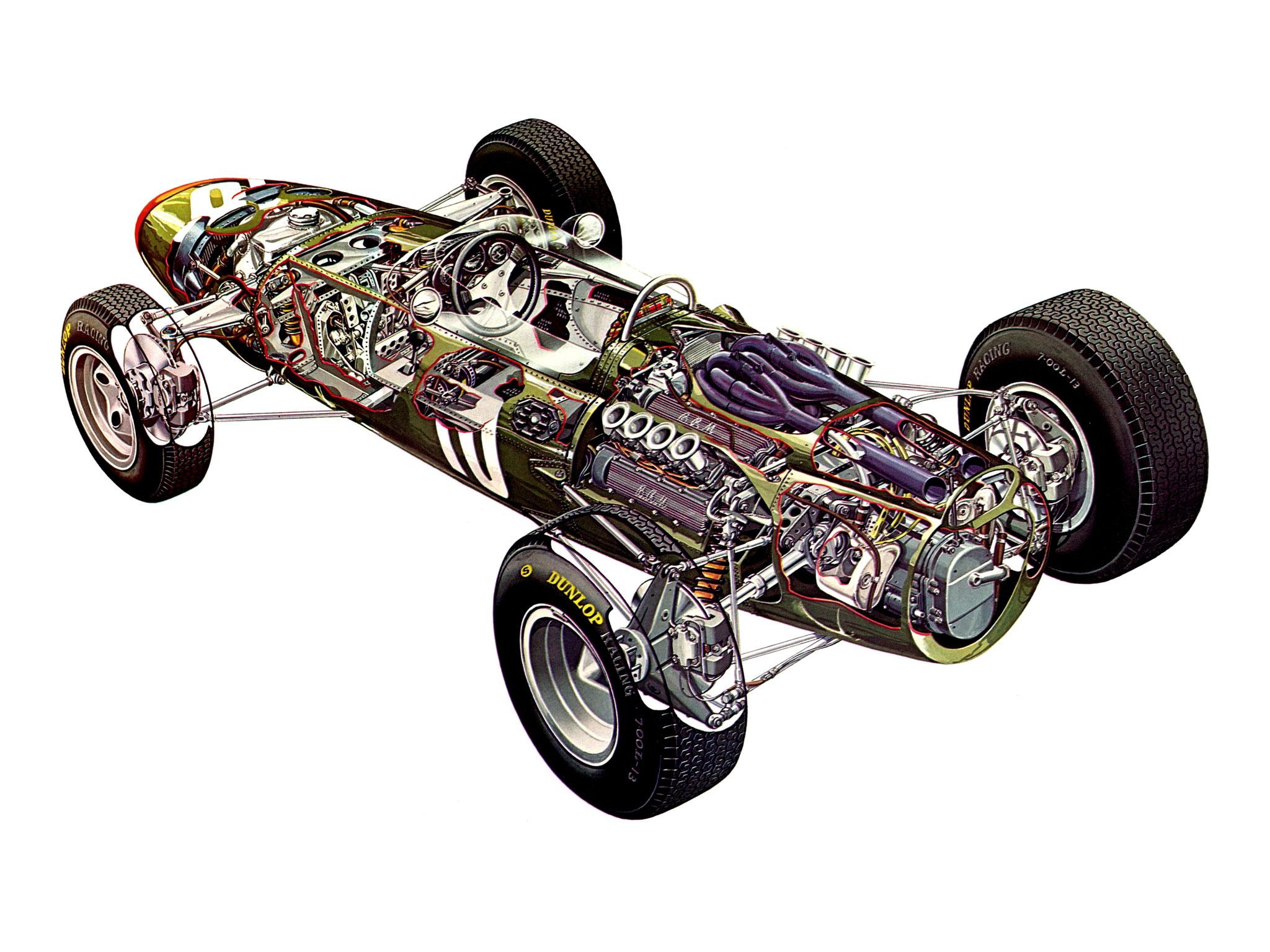 BRM P261 cutaway drawing