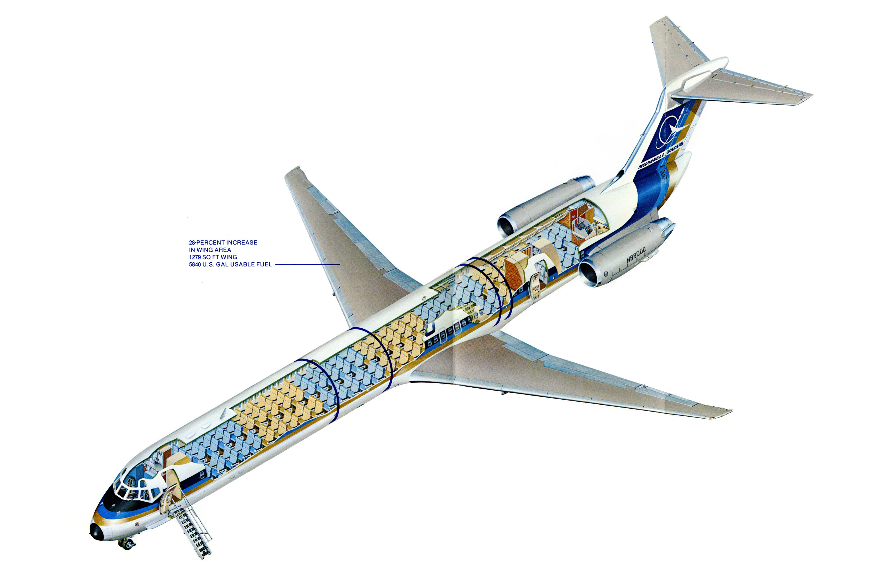 McDonnell Douglas MD-80 cutaway drawing