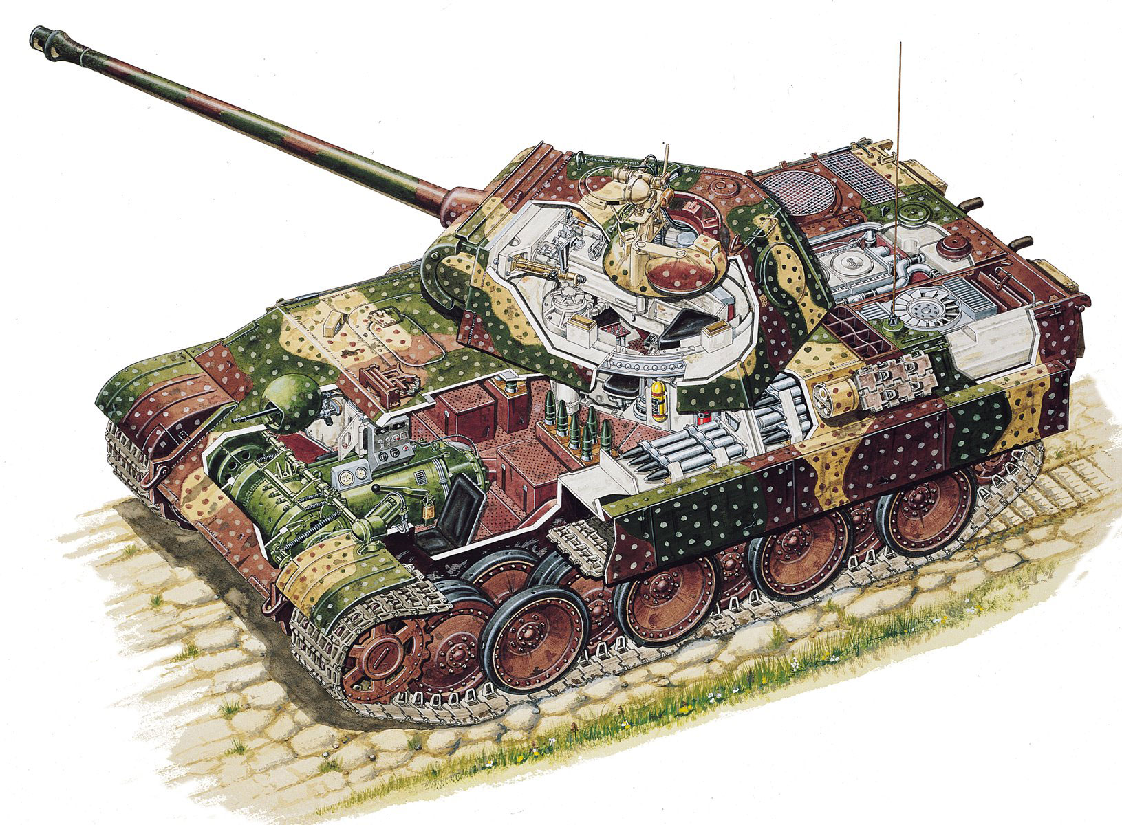 Panther tank cutaway drawing