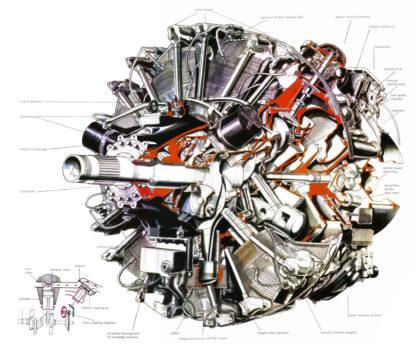 Wright R-3350 Turbo-Compound Engine