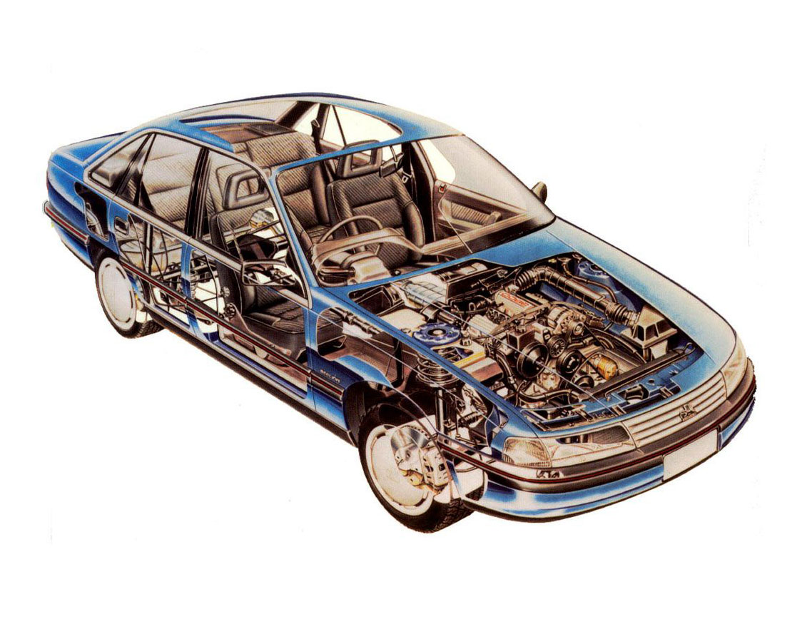 Holden Commodore cutaway drawing