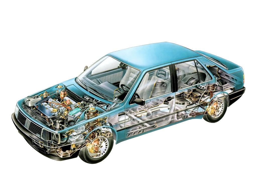Fiat Croma cutaway drawing