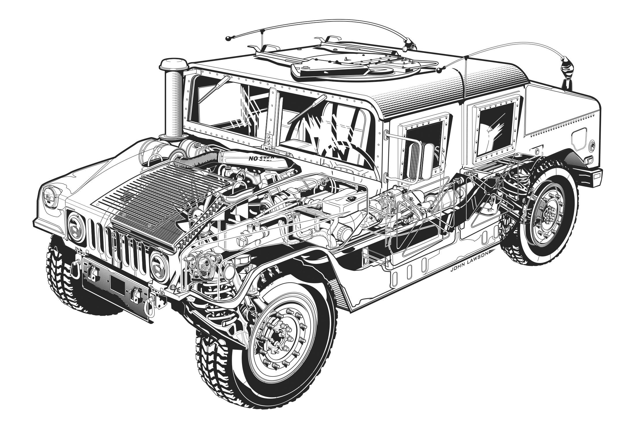 AM General HMMWV cutaway drawing