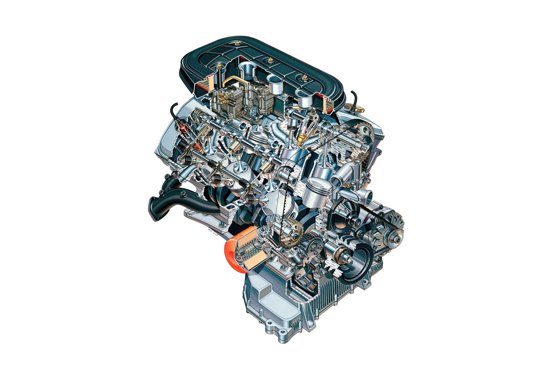 Alfa Romeo AR 01913 Engine cutaway drawing