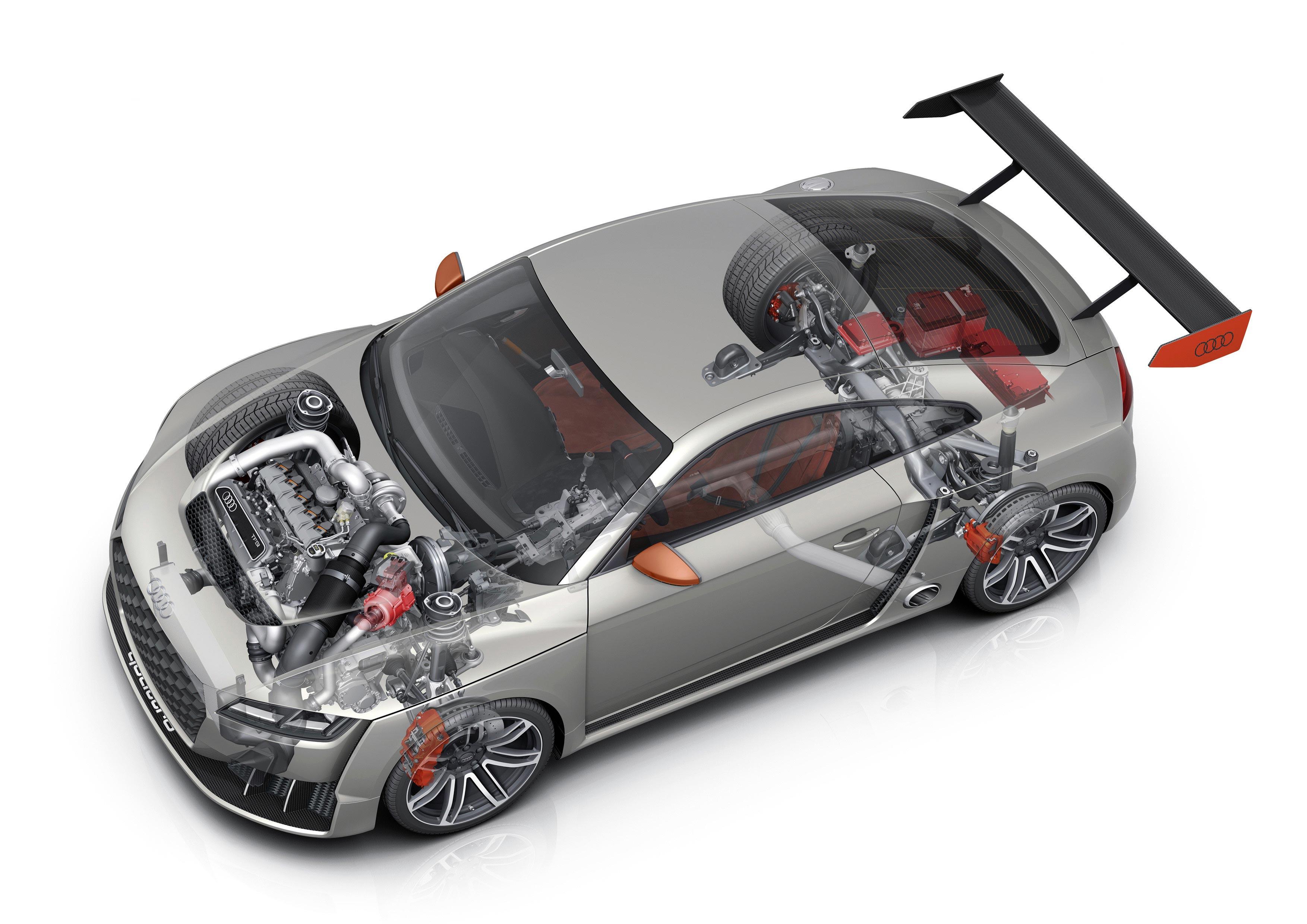 Audi TT clubsport turbo concept cutaway drawing