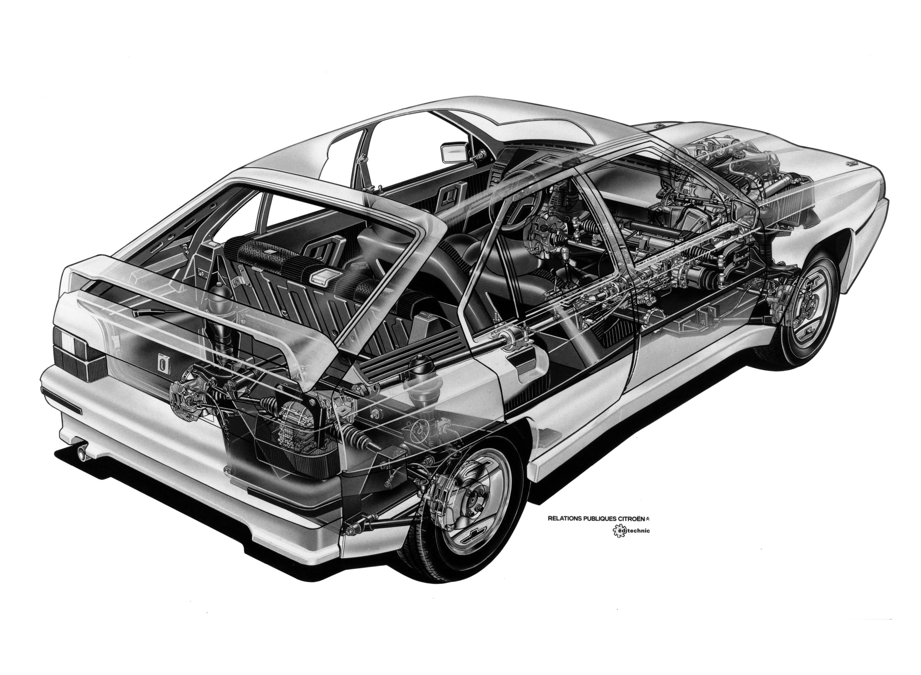 Citroen BX cutaway drawing