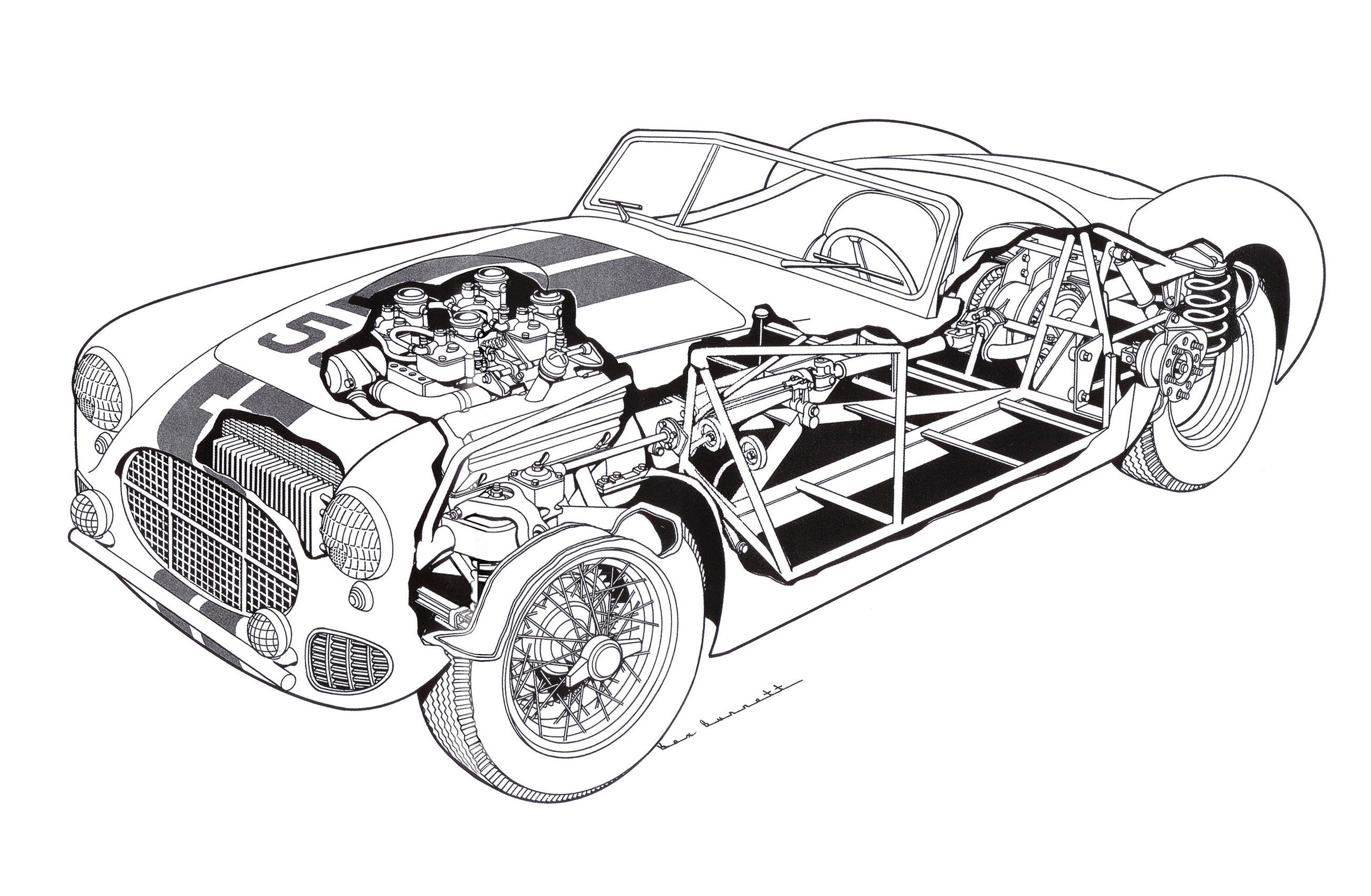 Cunningham C-2R cutaway drawing