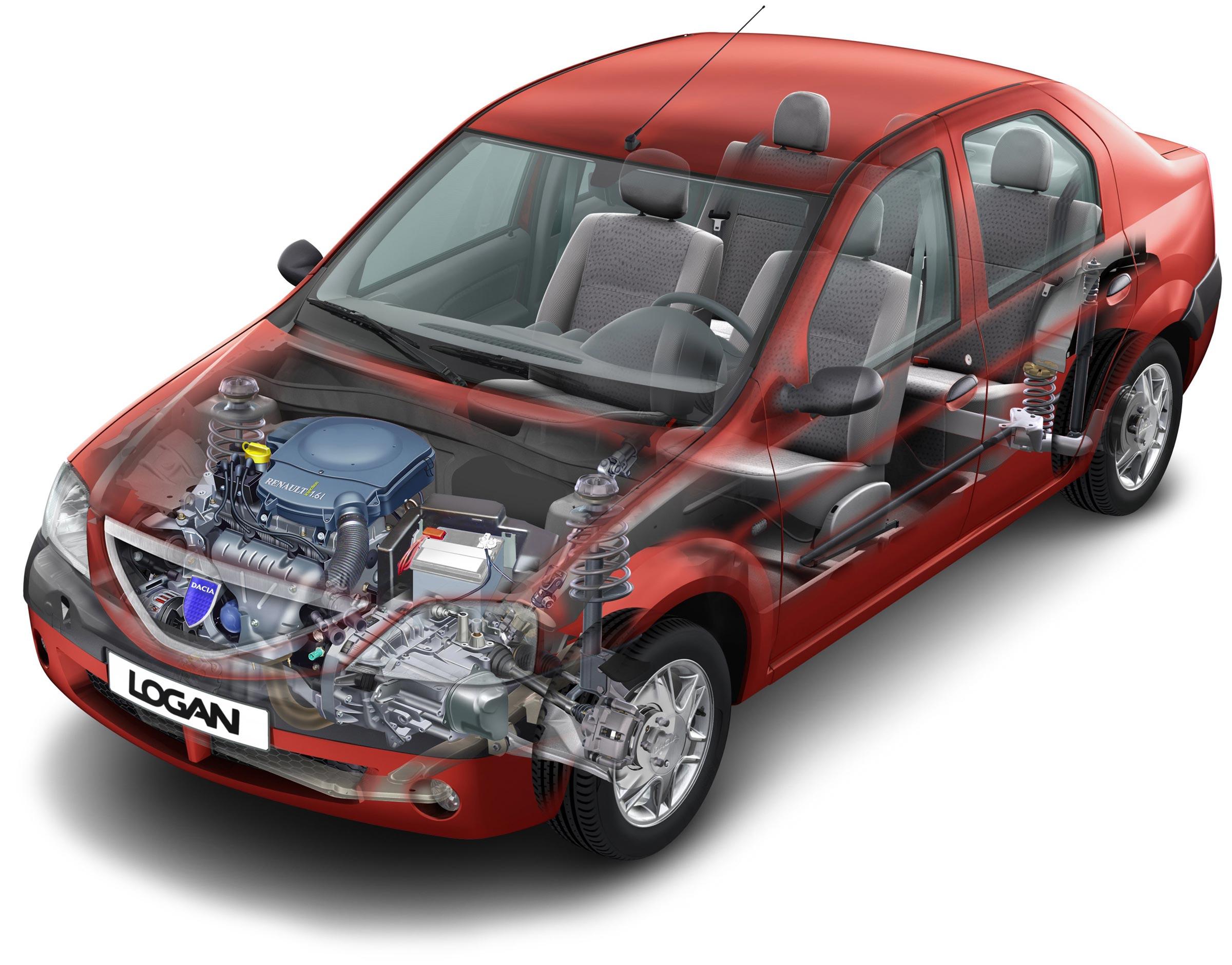Dacia Logan cutaway drawing
