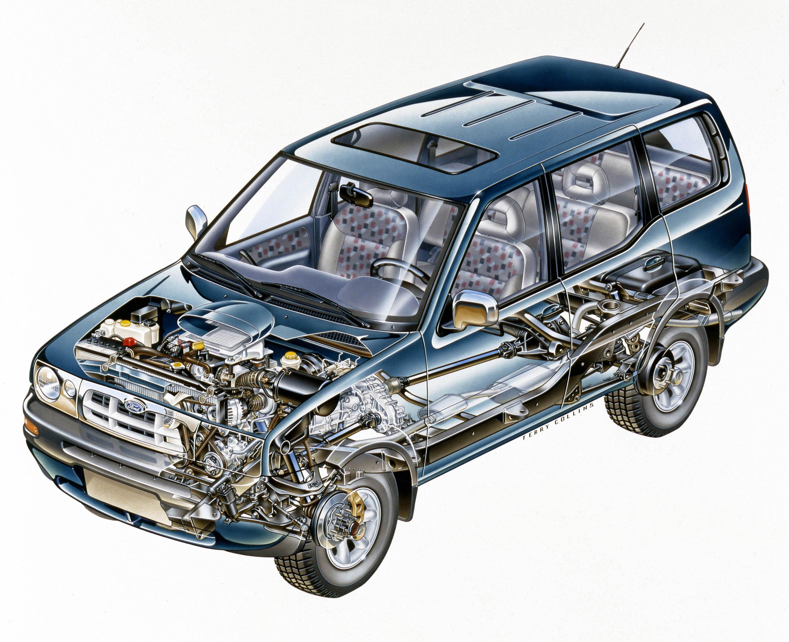 Ford Maverick cutaway drawing
