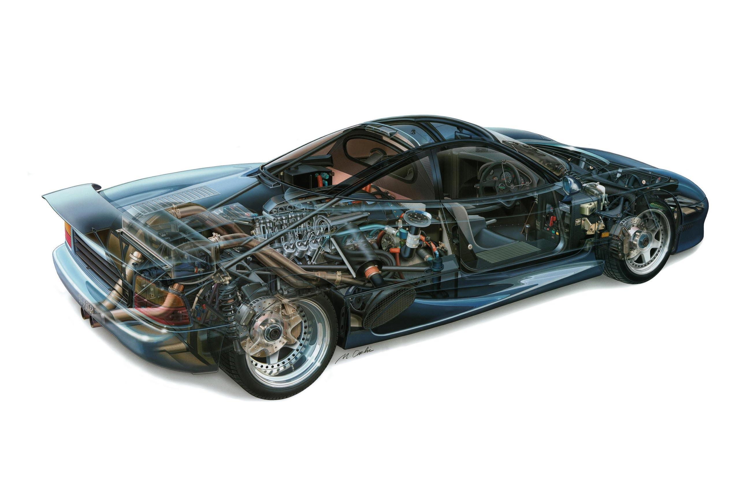 Jaguar XJR-15 cutaway drawing