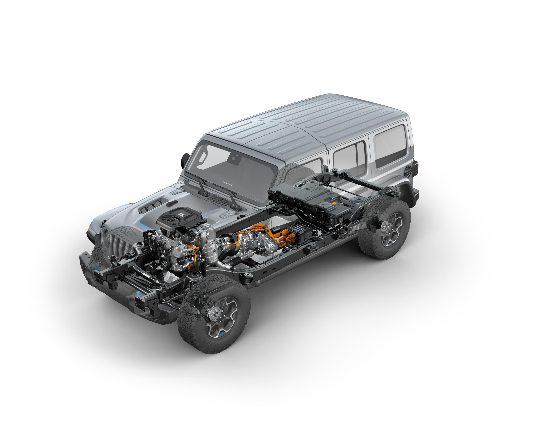 Jeep Wrangler Unlimited Rubicon cutaway drawing