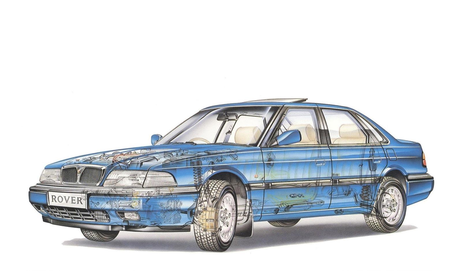 Rover 827 cutaway drawing