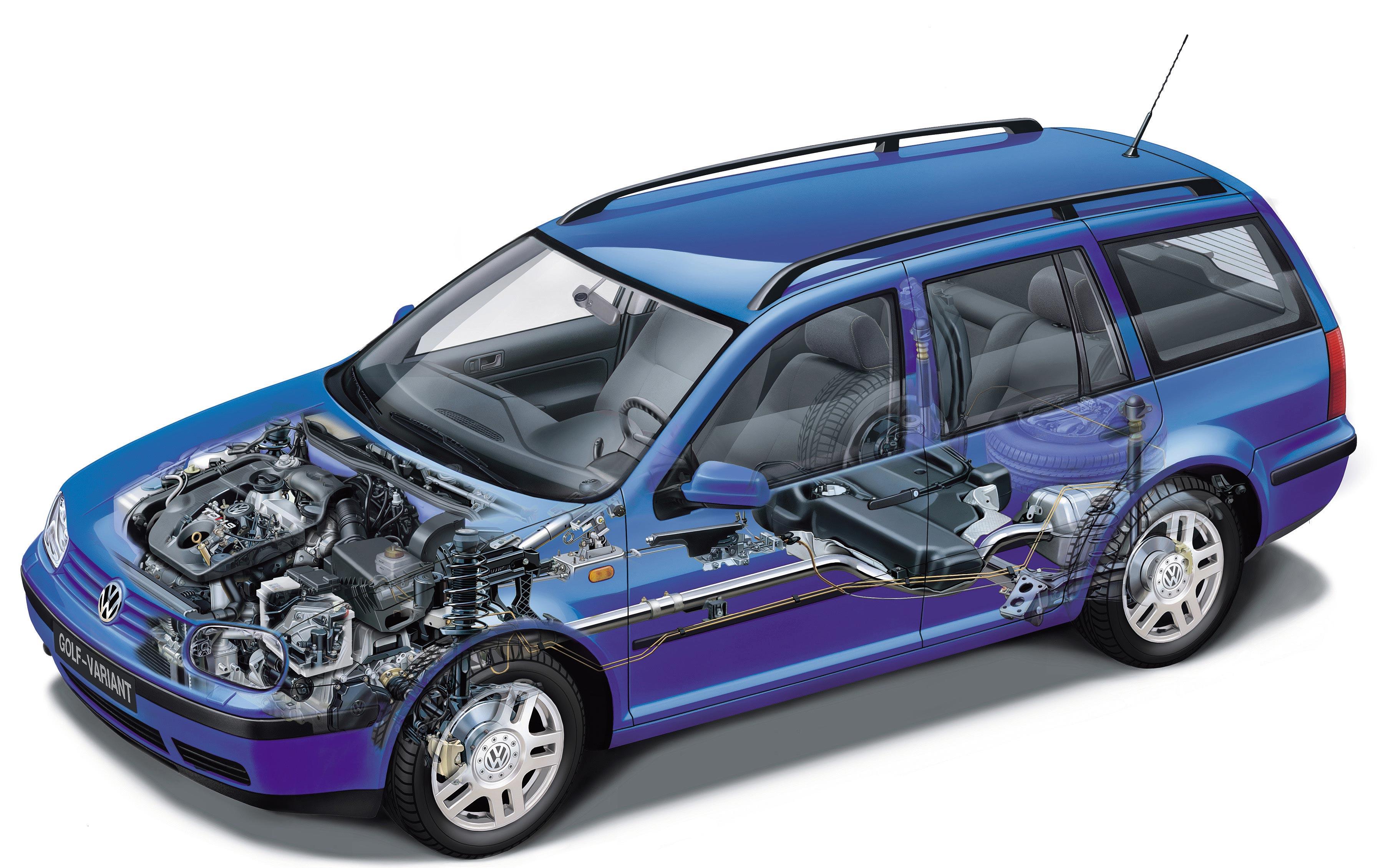 Volkswagen Golf Variant cutaway drawing