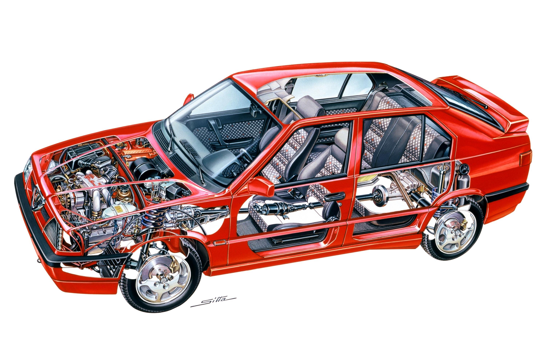 Alfa Romeo 33 1991 cutaway drawing