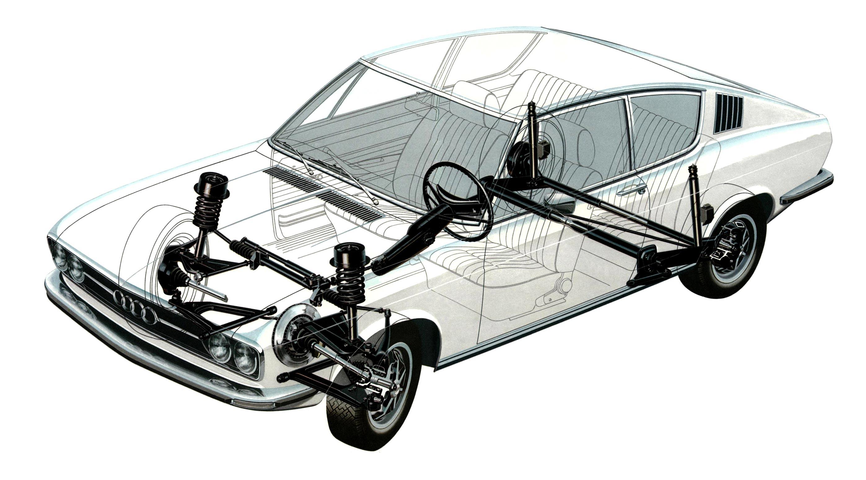 Audi 100 Coupe cutaway drawing