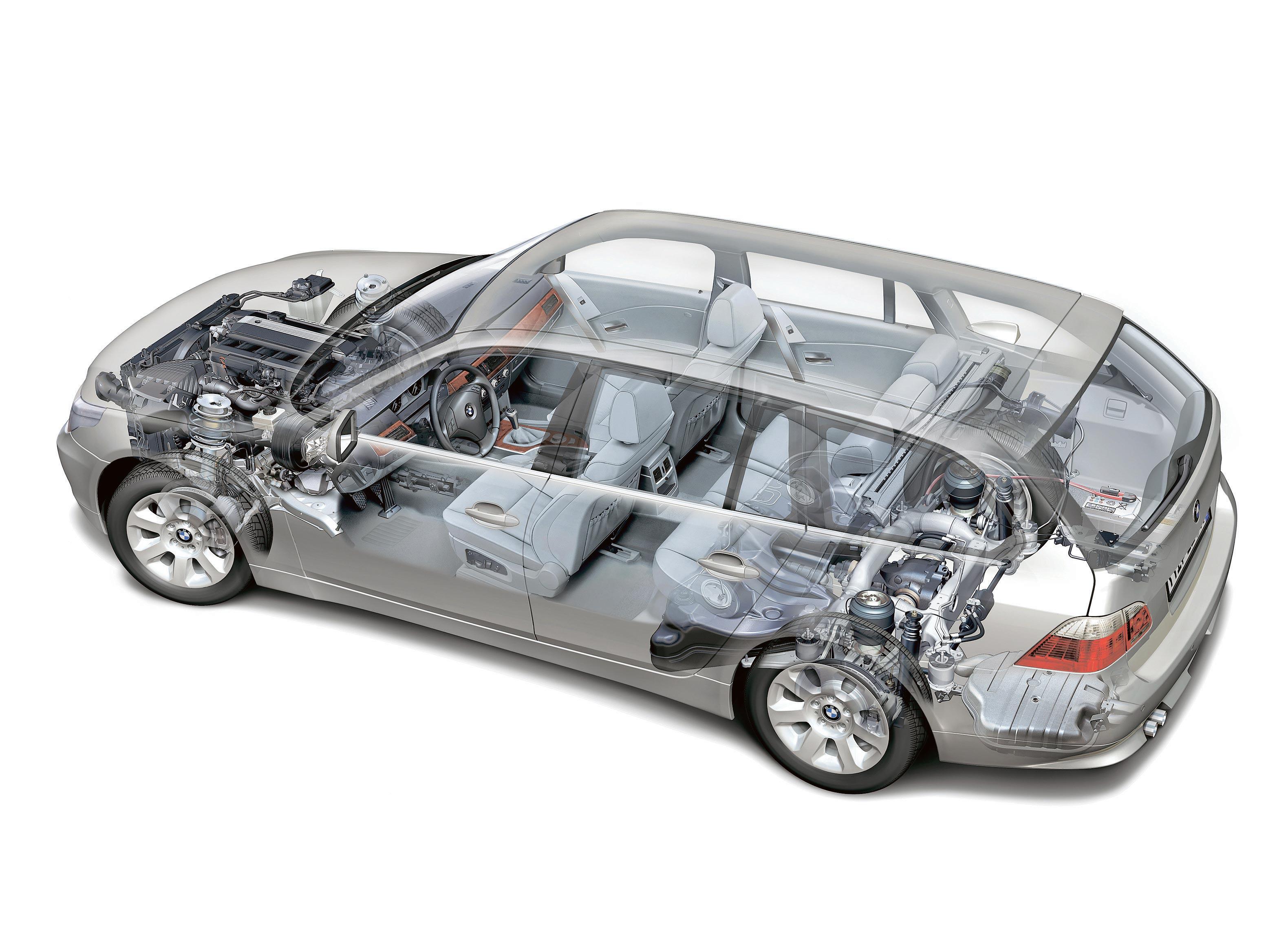 BMW 5 Series Touring E61 cutaway drawing