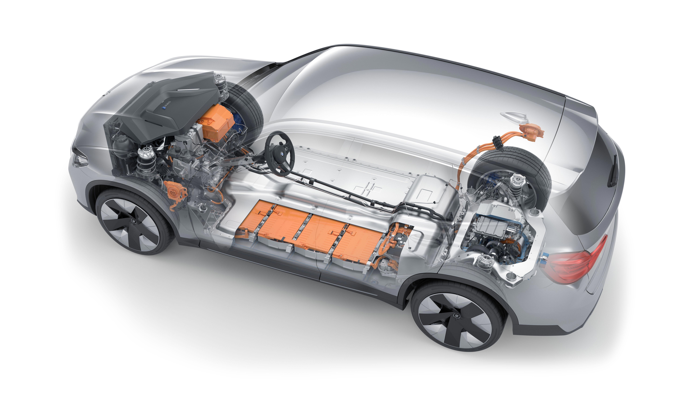 BMW iX3 cutaway drawing