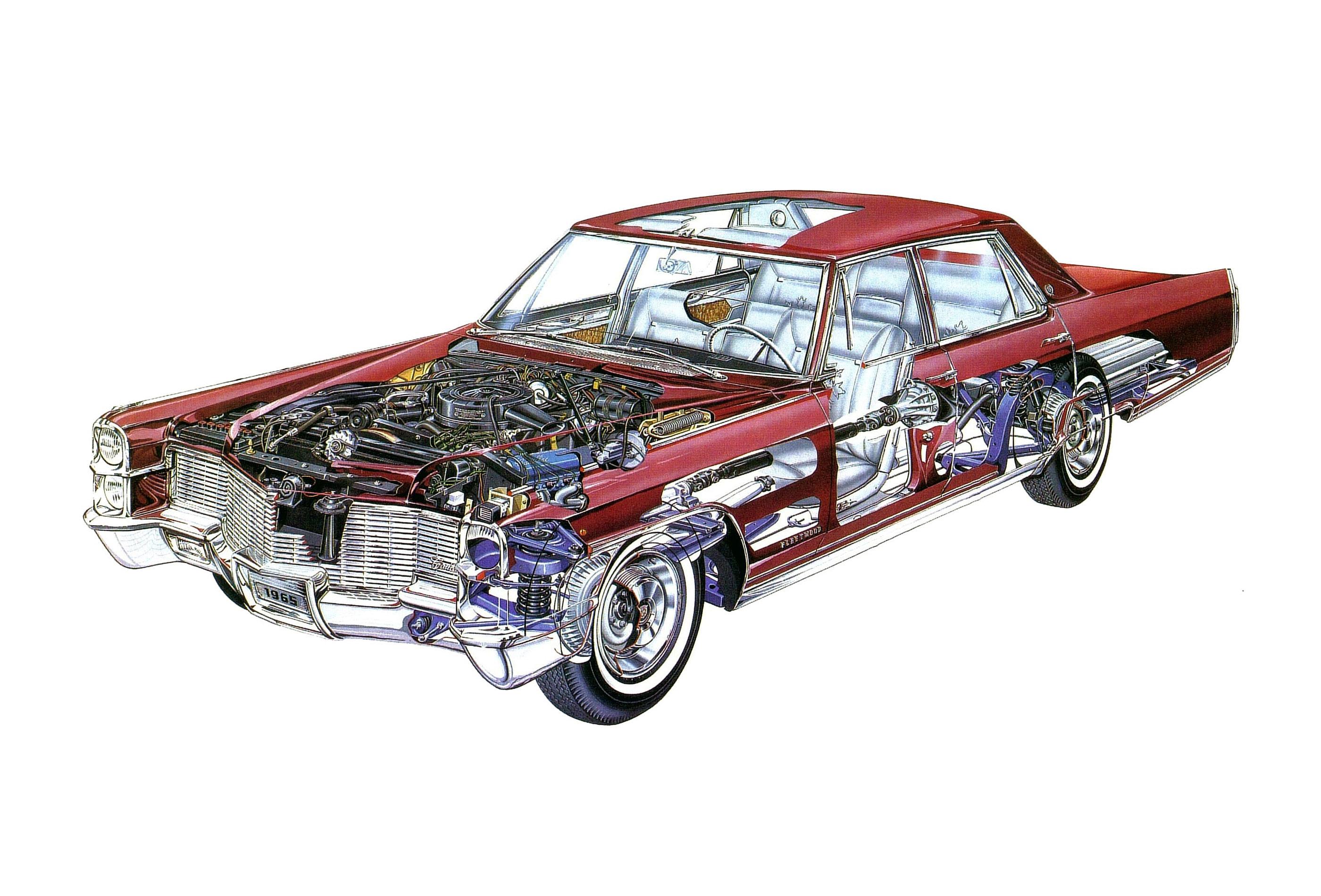 Cadillac Fleetwood cutaway drawing