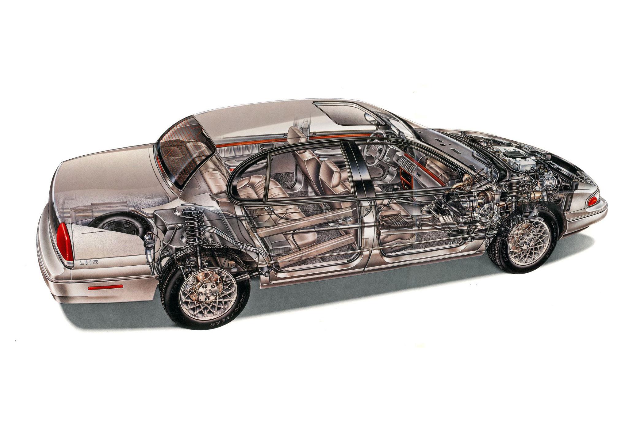 Chrysler LHS cutaway drawing