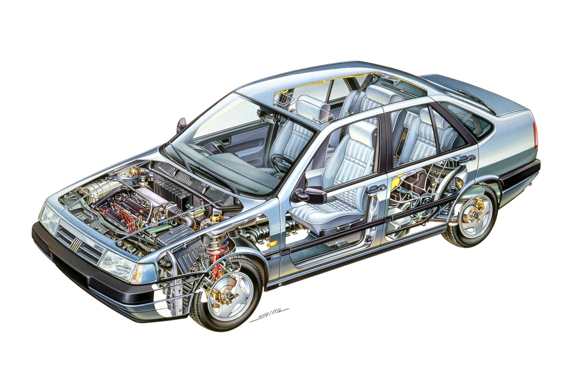 Fiat Tempra cutaway drawing