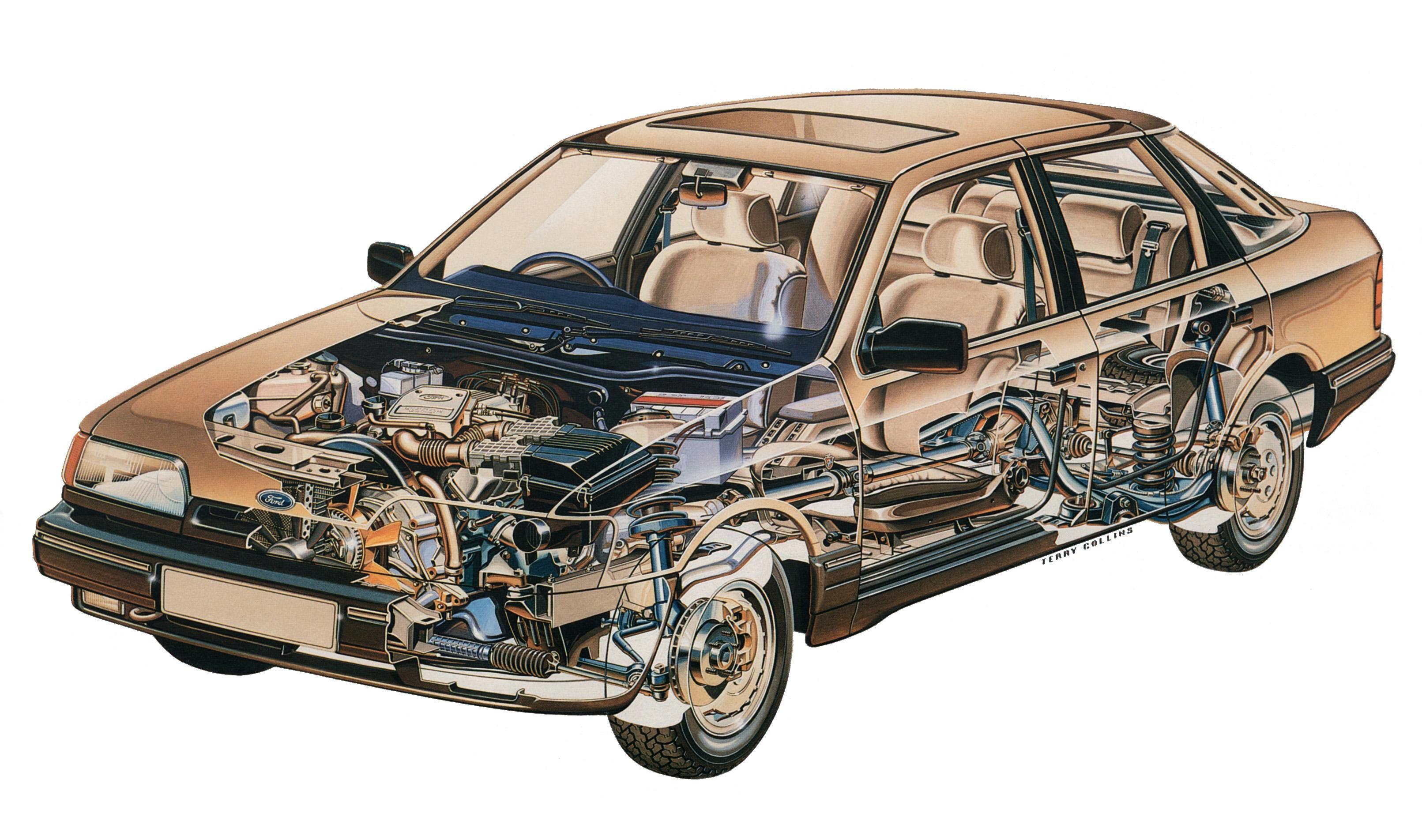 Ford Granada Hatchback cutaway drawing