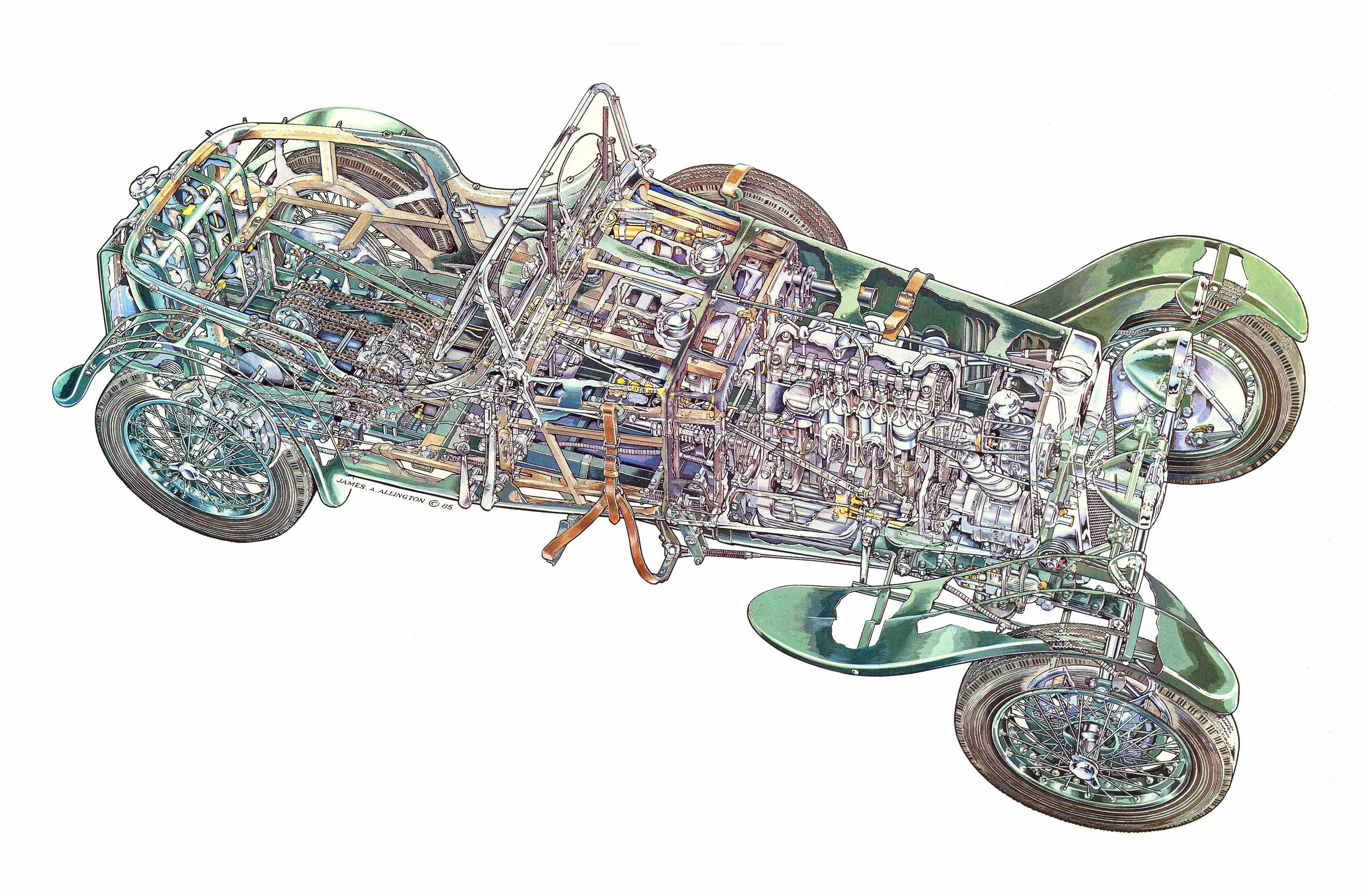 Frazer Nash Shelsley cutaway drawing