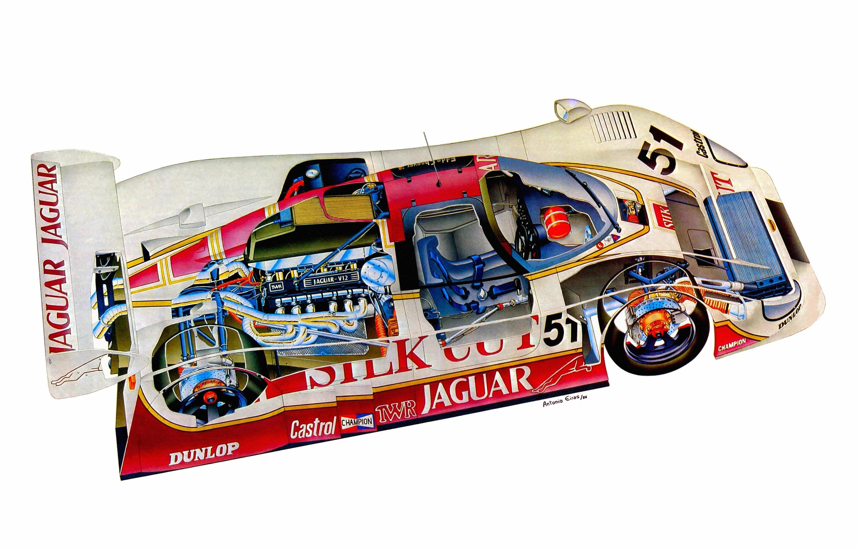 Jaguar XJR-6 cutaway drawing