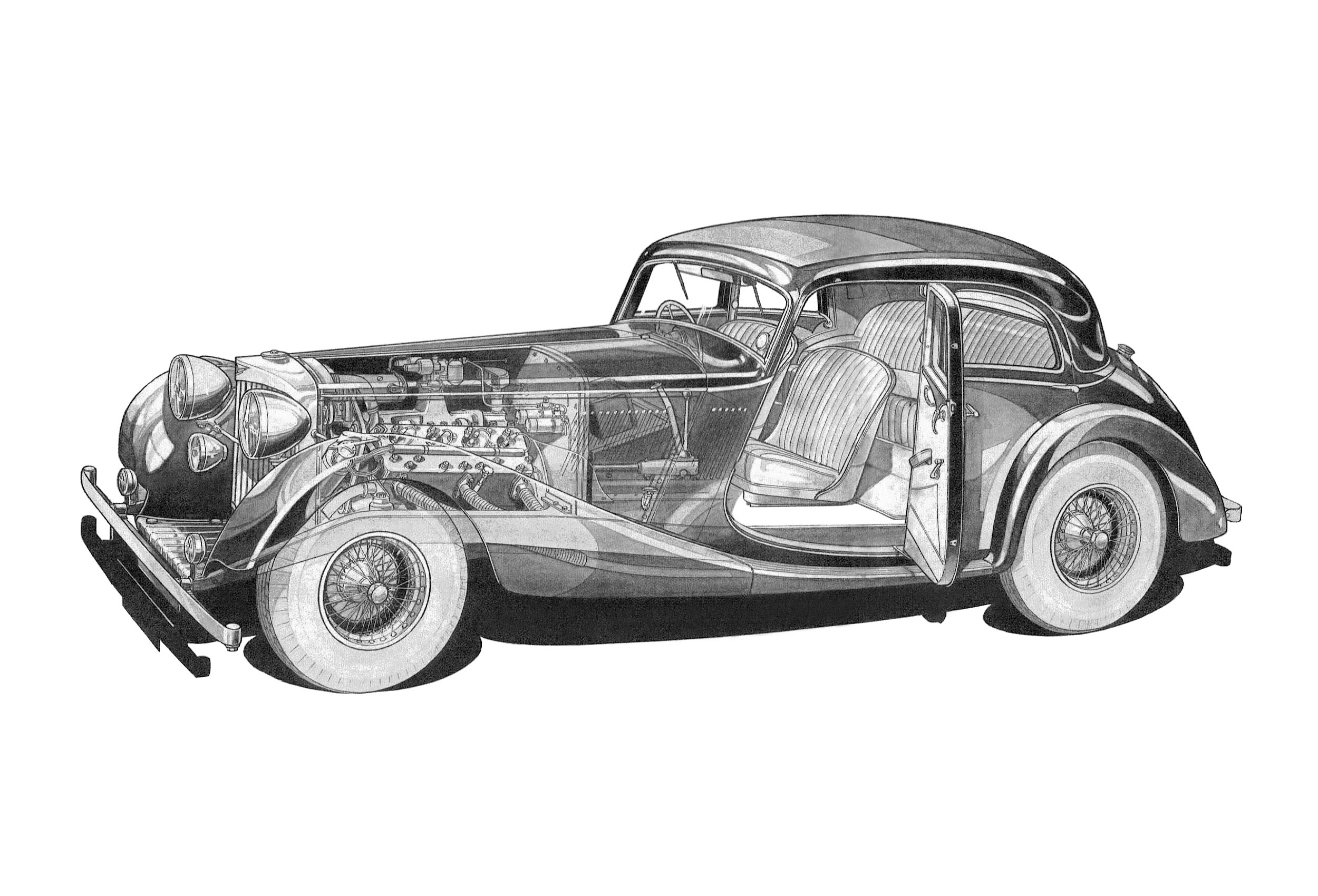 Jensen S-Type cutaway drawing