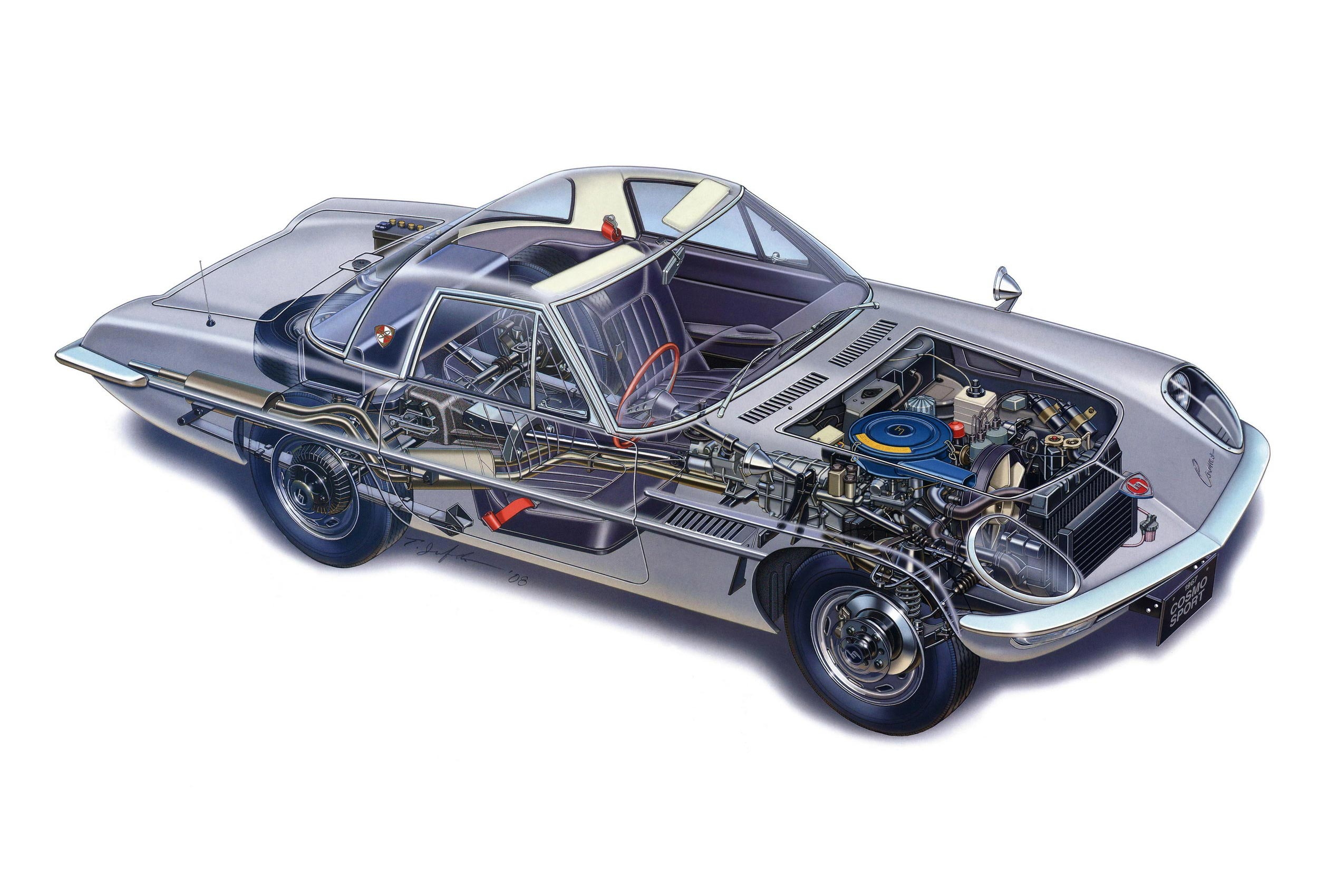 Mazda Cosmo Sport cutaway drawing