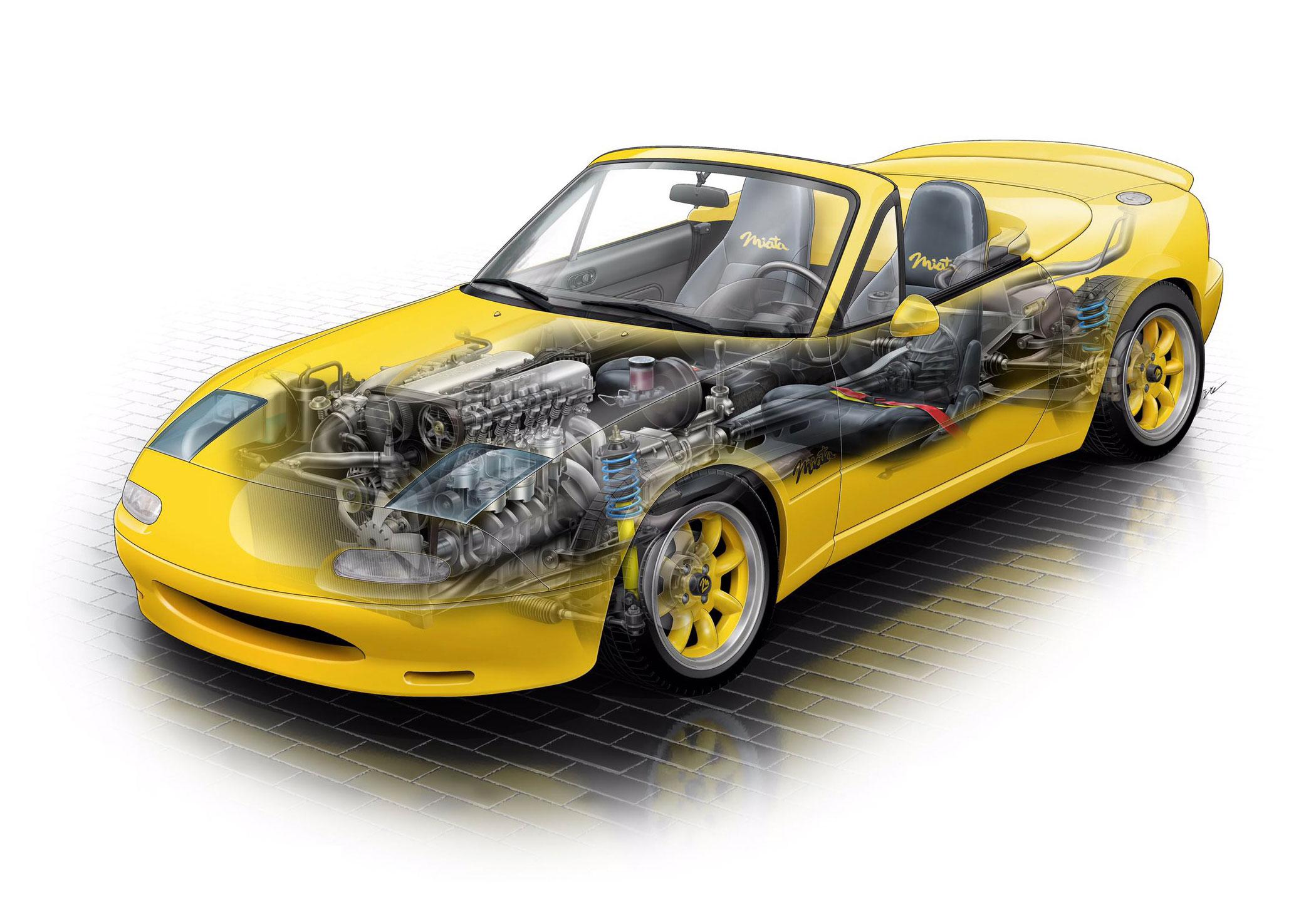Mazda Club Sport Concept cutaway drawing