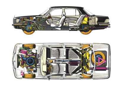 Mercedes-Benz W116 350 SE 1972