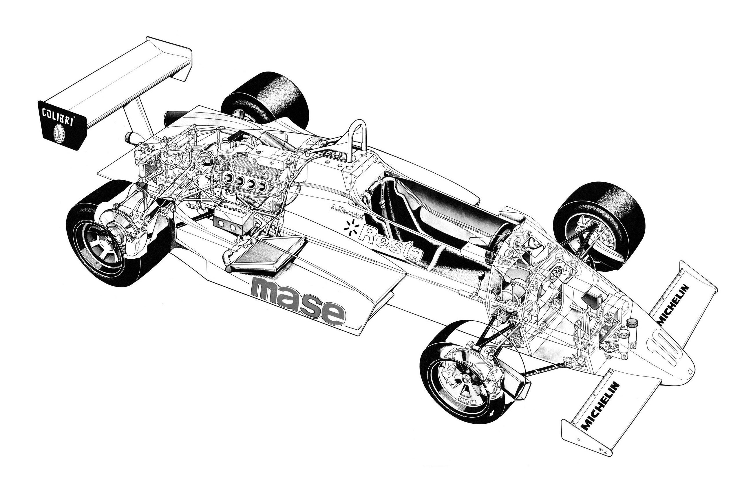 Minardi M284 cutaway drawing