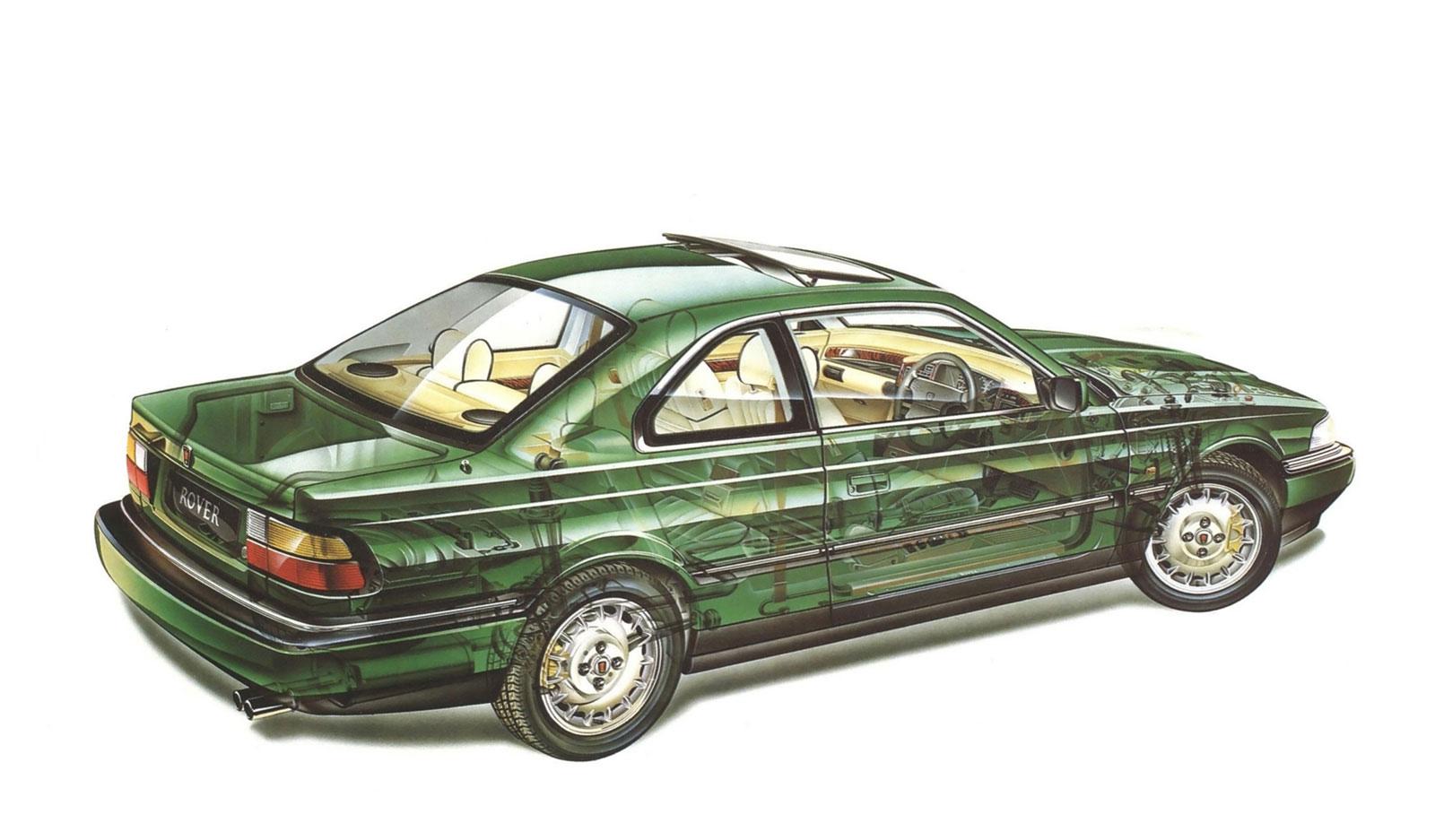 Rover 800 cutaway drawing