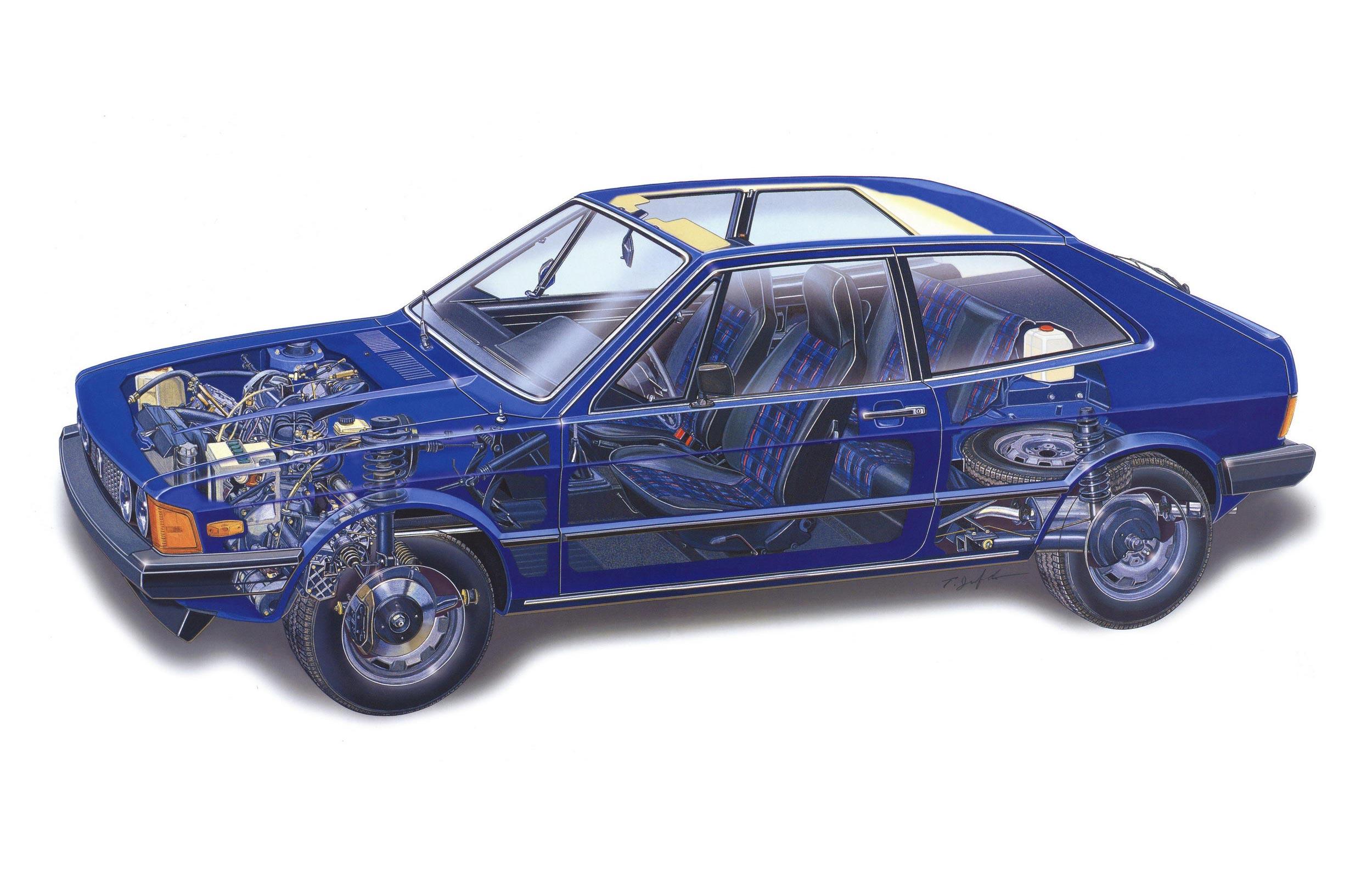 Volkswagen Scirocco cutaway drawing
