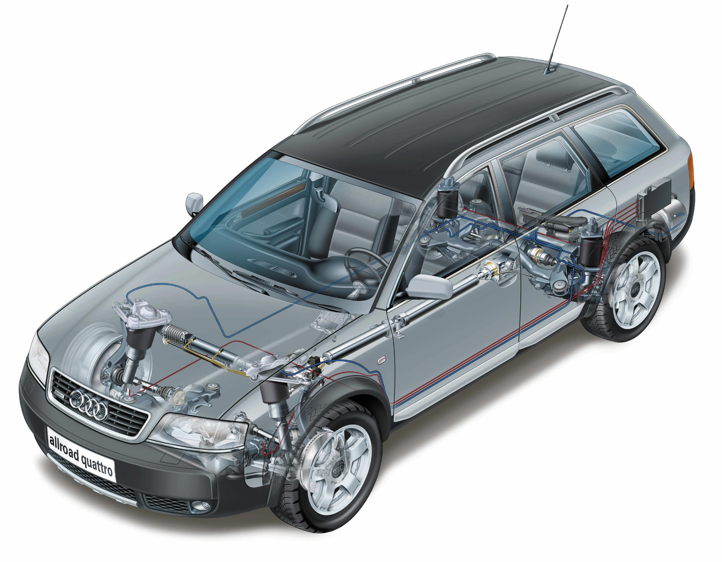 Audi Allroad Quattro cutaway drawing