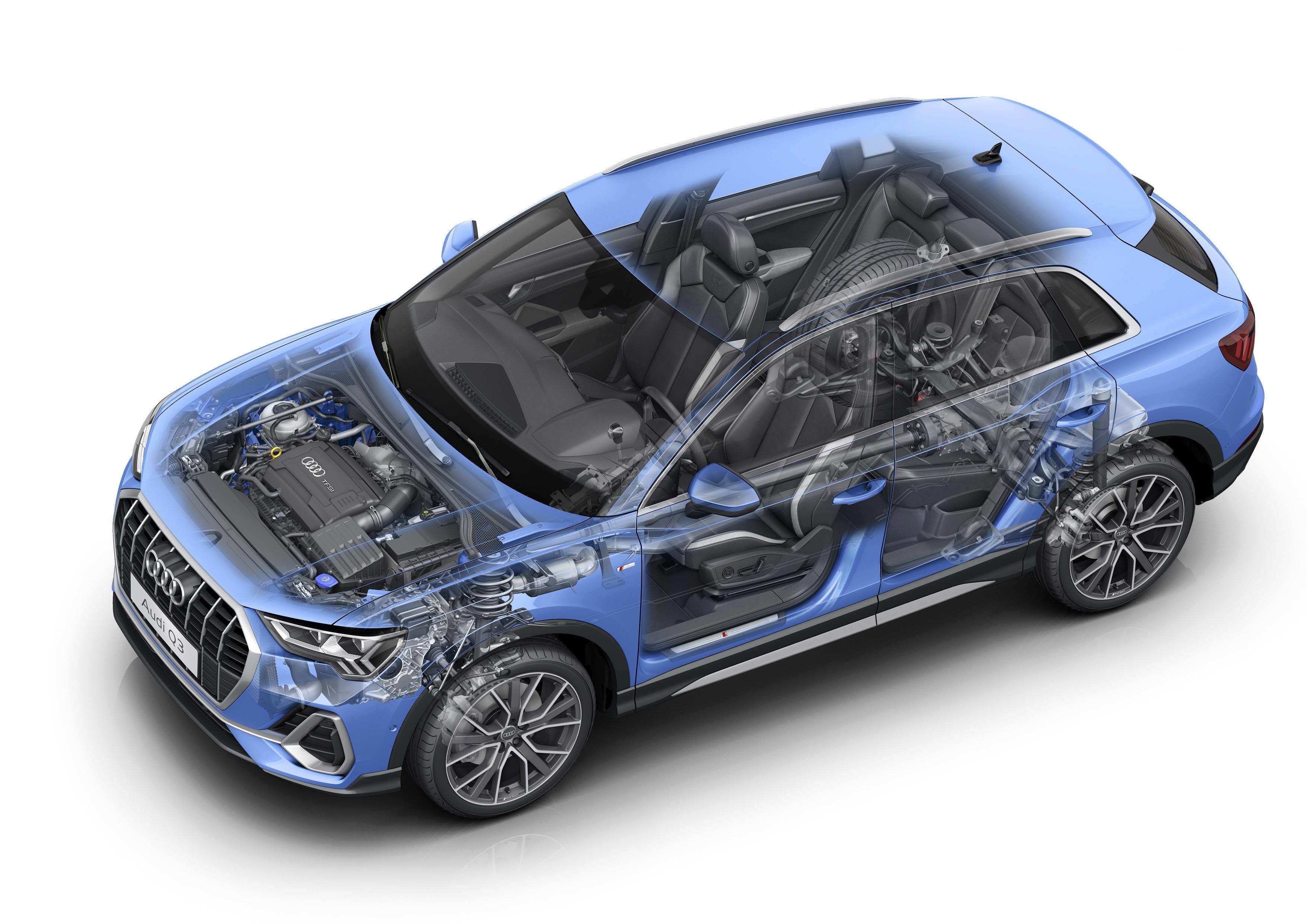 Audi Q3 quattro S-line cutaway drawing