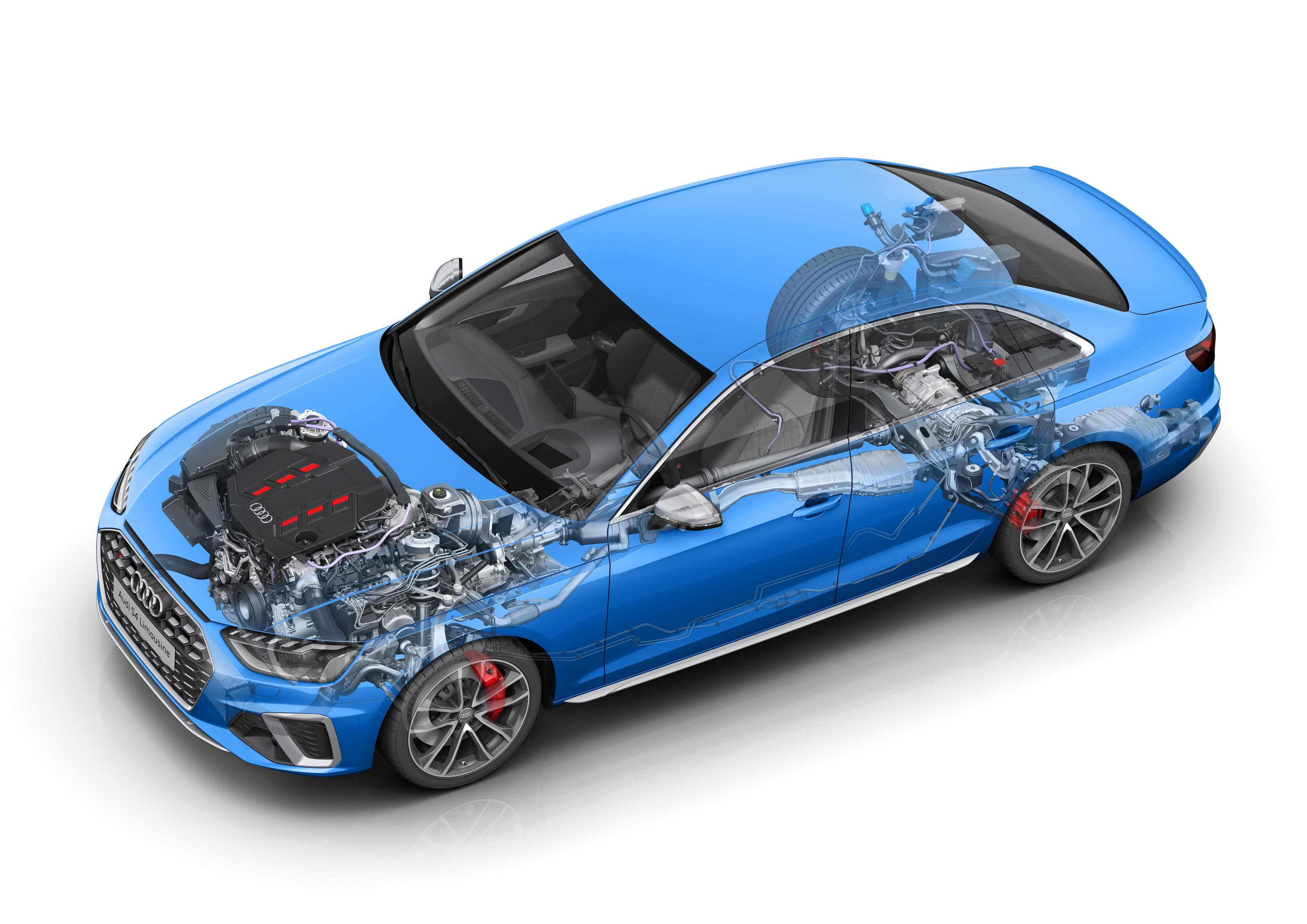 Audi S4 Sedan TDI cutaway drawing