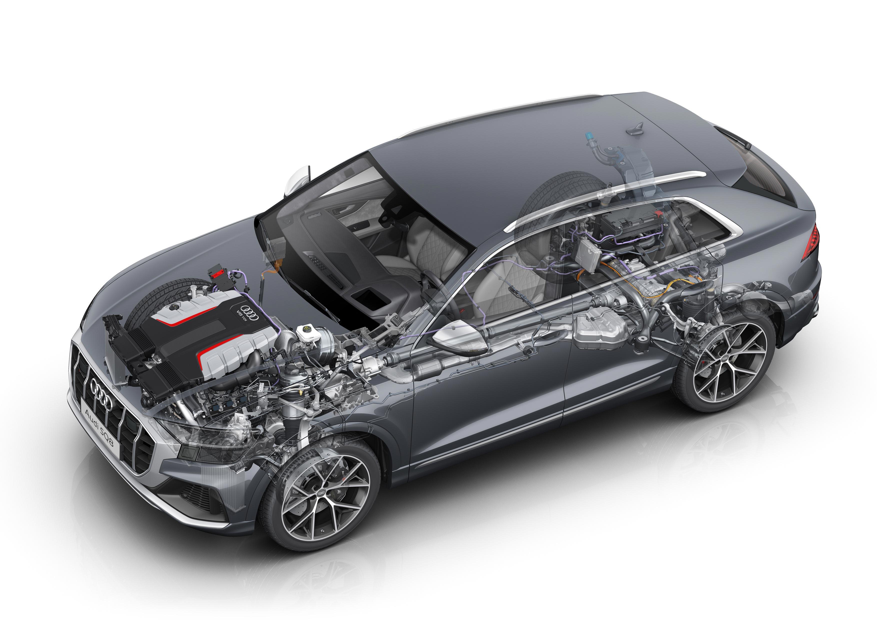 Audi SQ8 TDI cutaway drawing
