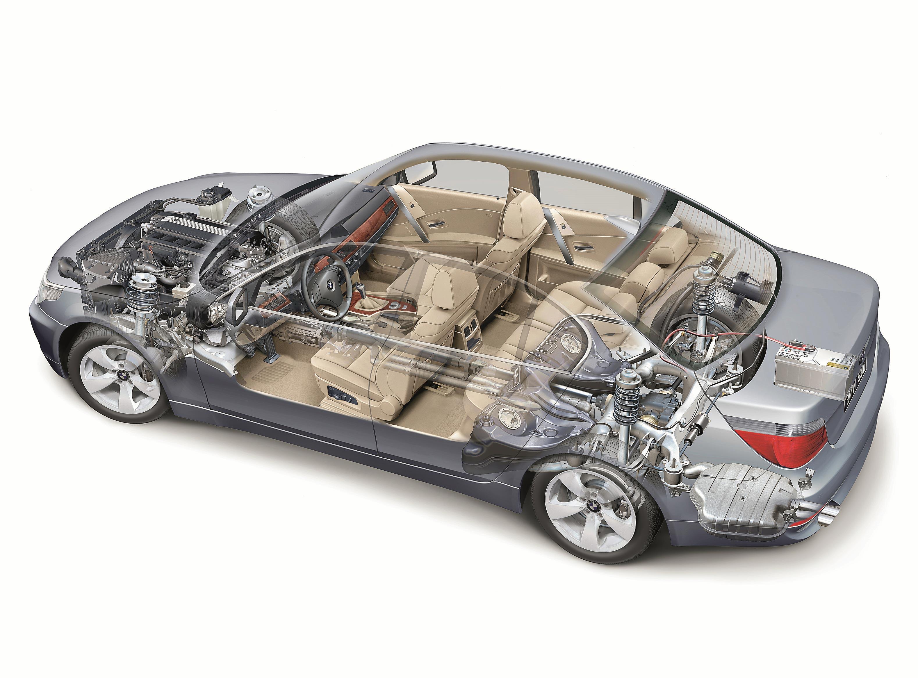 BMW 5 Series E60 cutaway drawing
