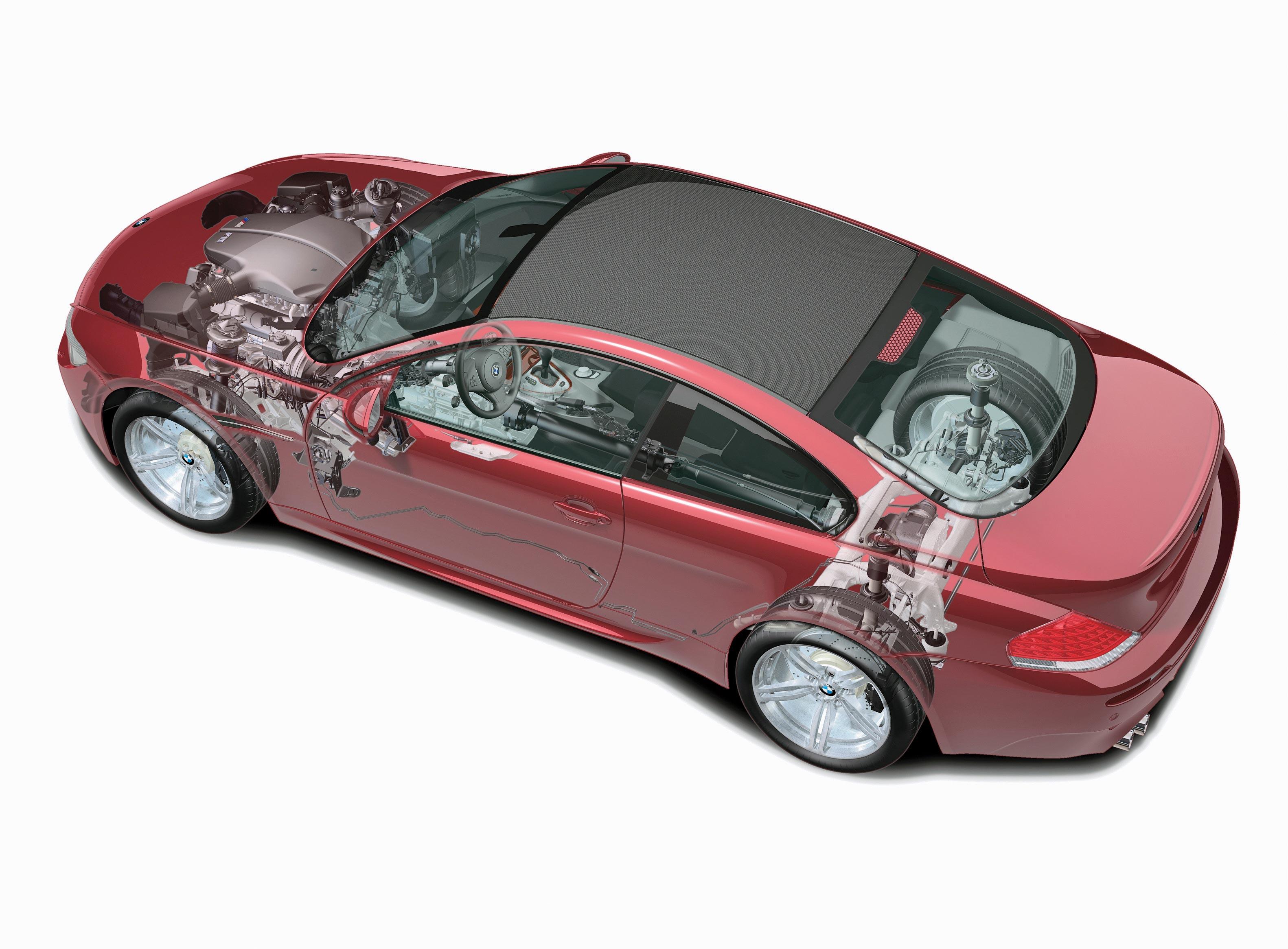 BMW 6 Series E63 cutaway drawing