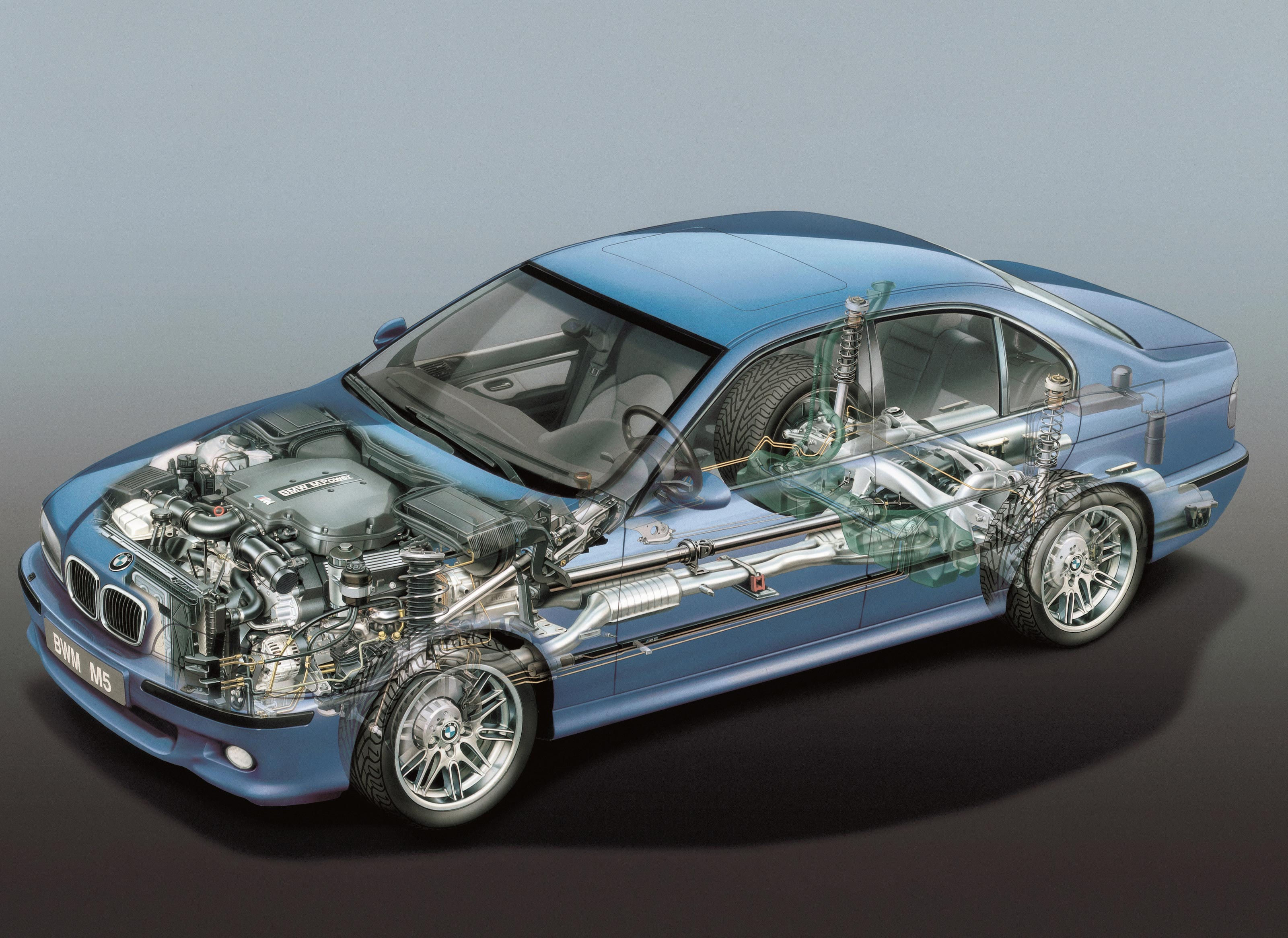 BMW M5 E39 cutaway drawing