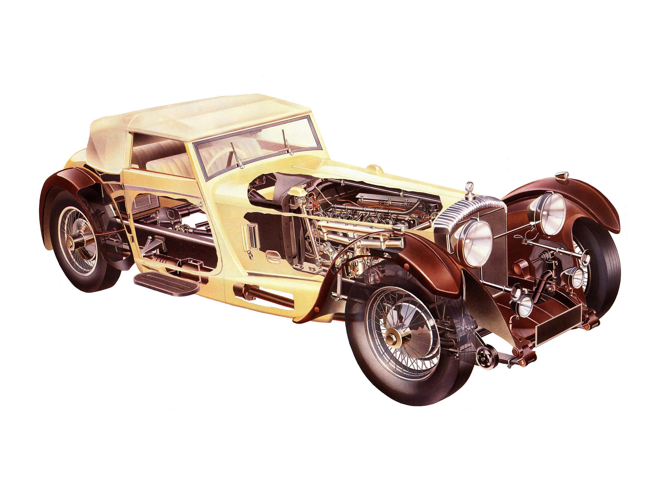 Daimler double-six cutaway drawing