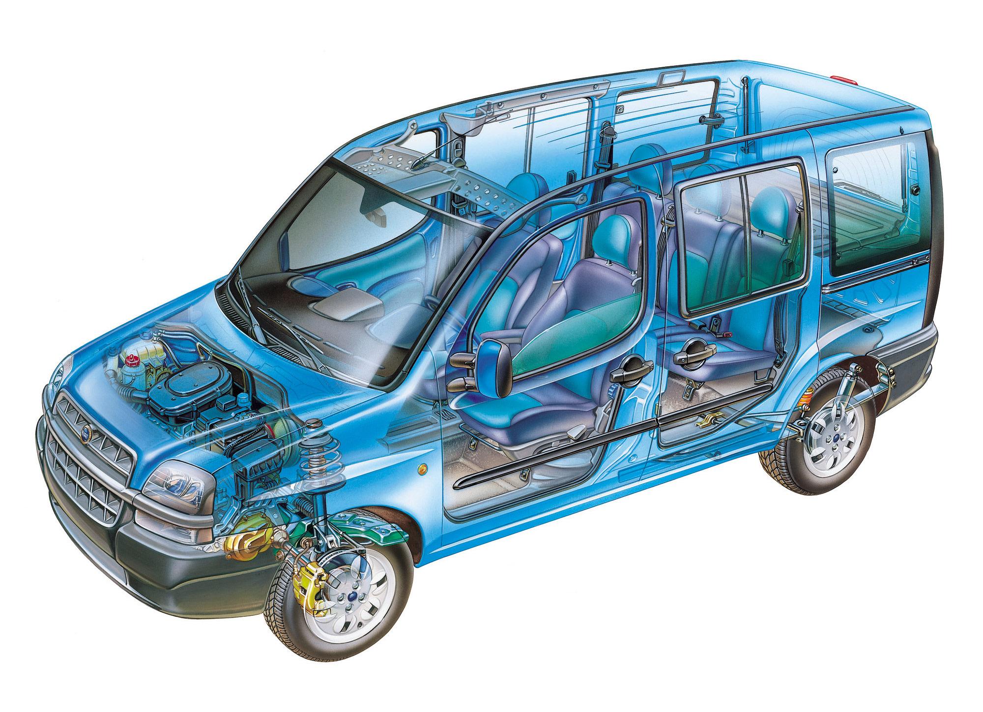 Fiat Doblò 2000 cutaway drawing