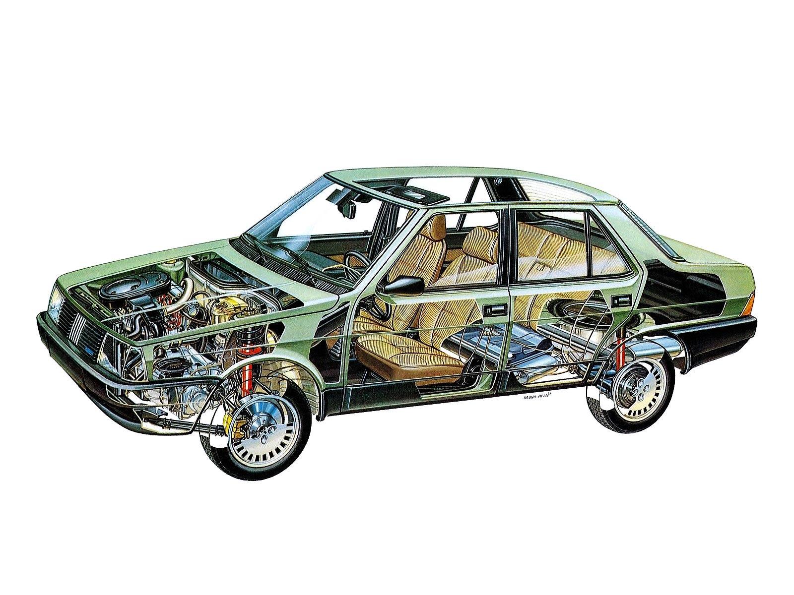 Fiat Regata Super cutaway drawing