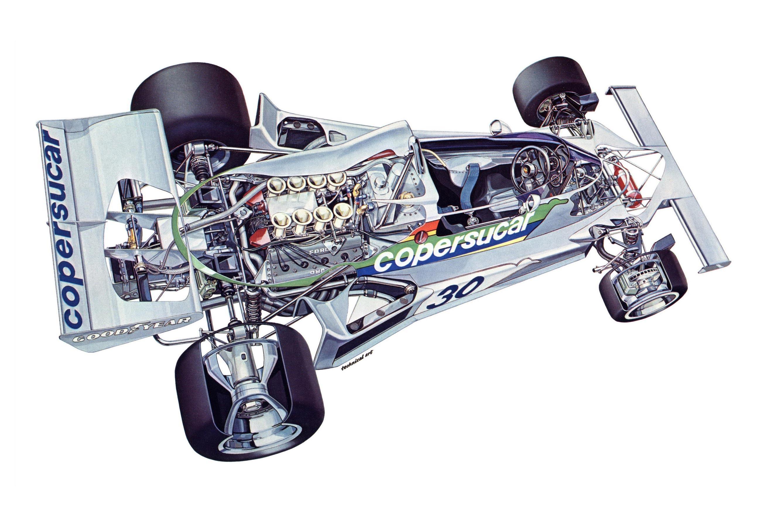 Fittipaldi FD04 cutaway drawing